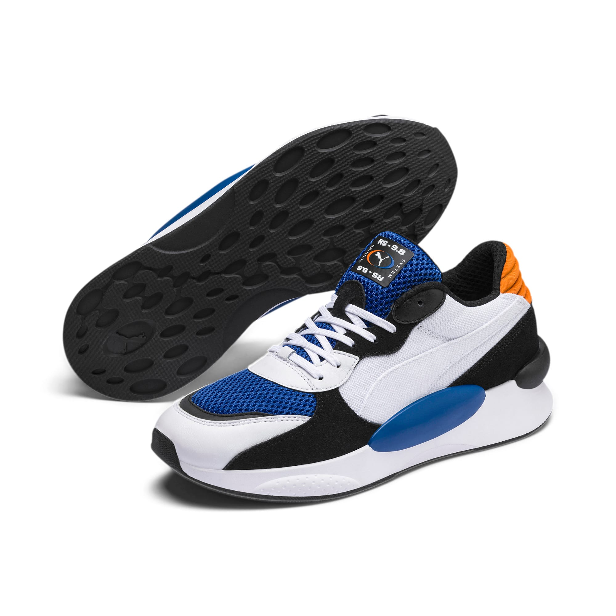 Thumbnail 3 of RS 9.8 Cosmic Trainers, Puma White-Galaxy Blue, medium