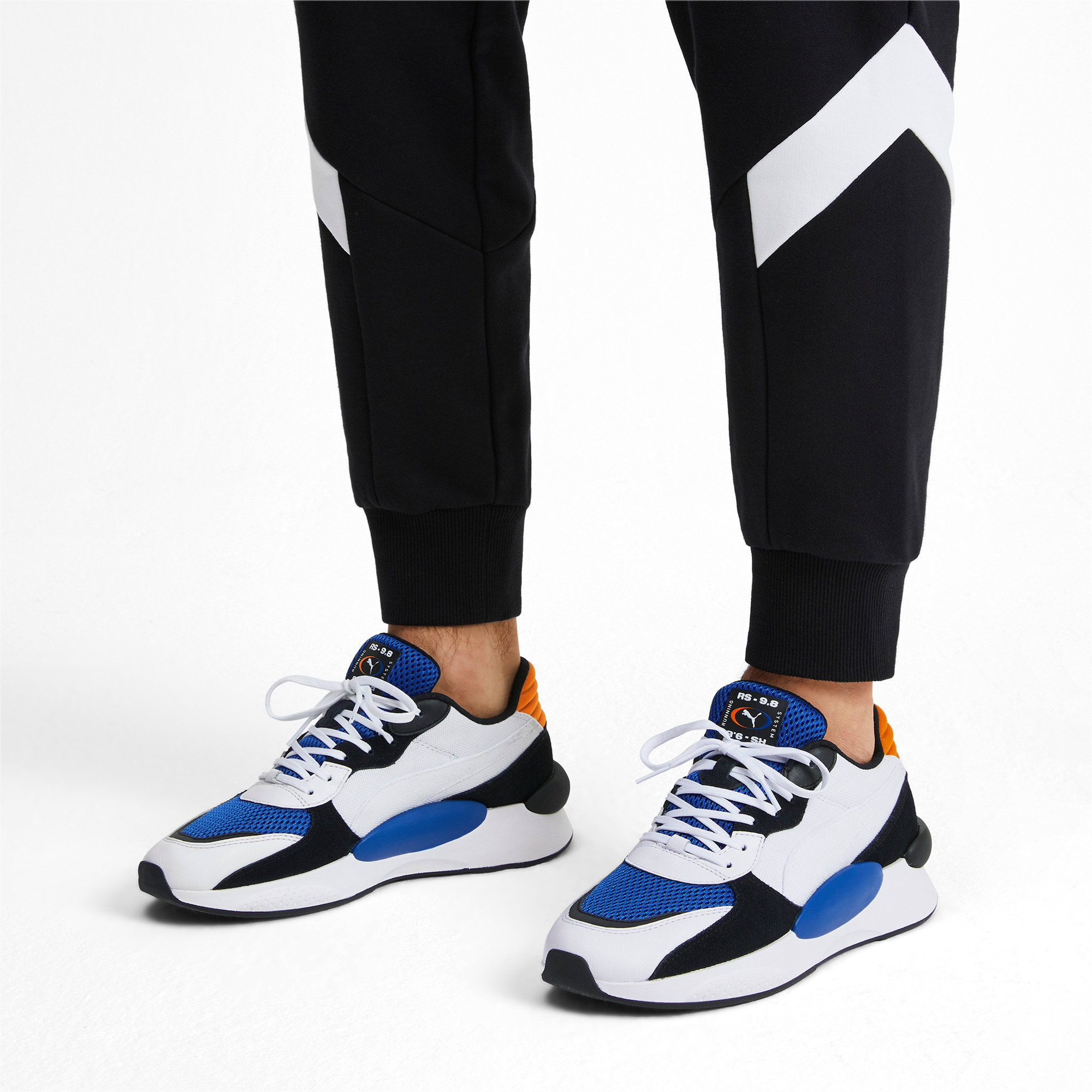 Thumbnail 2 of RS 9.8 Cosmic Trainers, Puma White-Galaxy Blue, medium