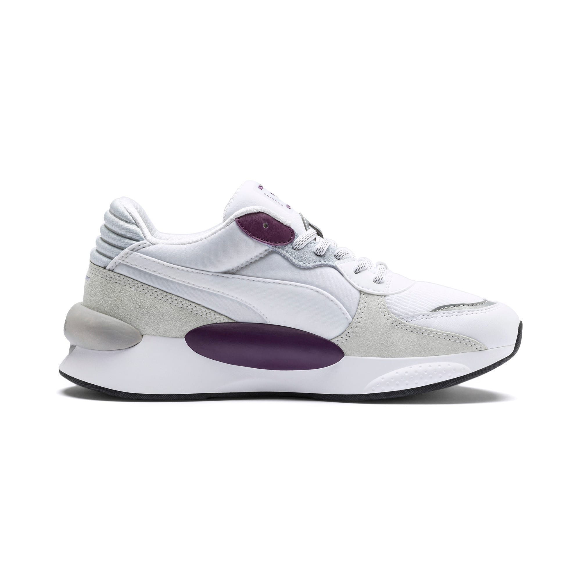 RS 9.8 Gravity Trainers, Puma White-Plum Purple, large
