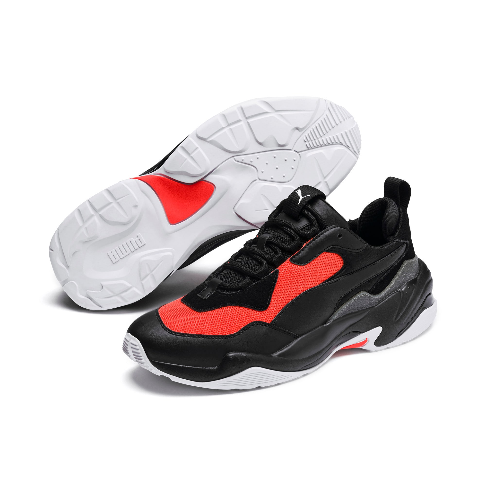 Thumbnail 3 of Thunder Fashion 2.0 Trainers, Puma Black-Nrgy Red, medium