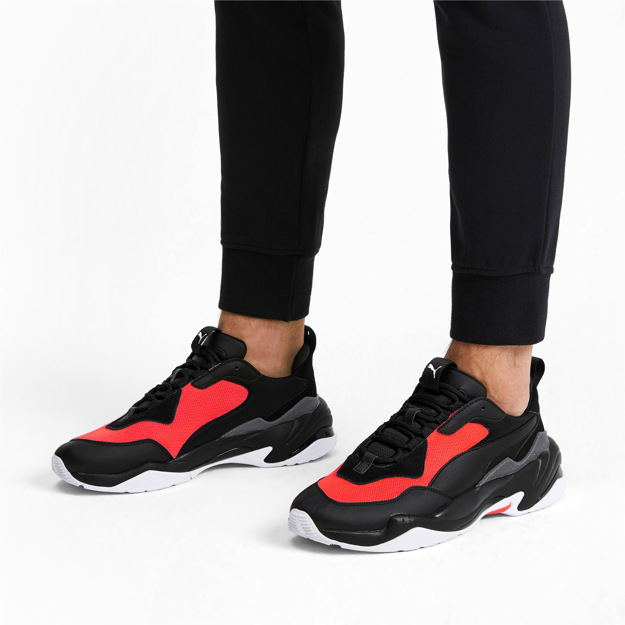 Thumbnail 2 of Thunder Fashion 2.0 Trainers, Puma Black-Nrgy Red, medium