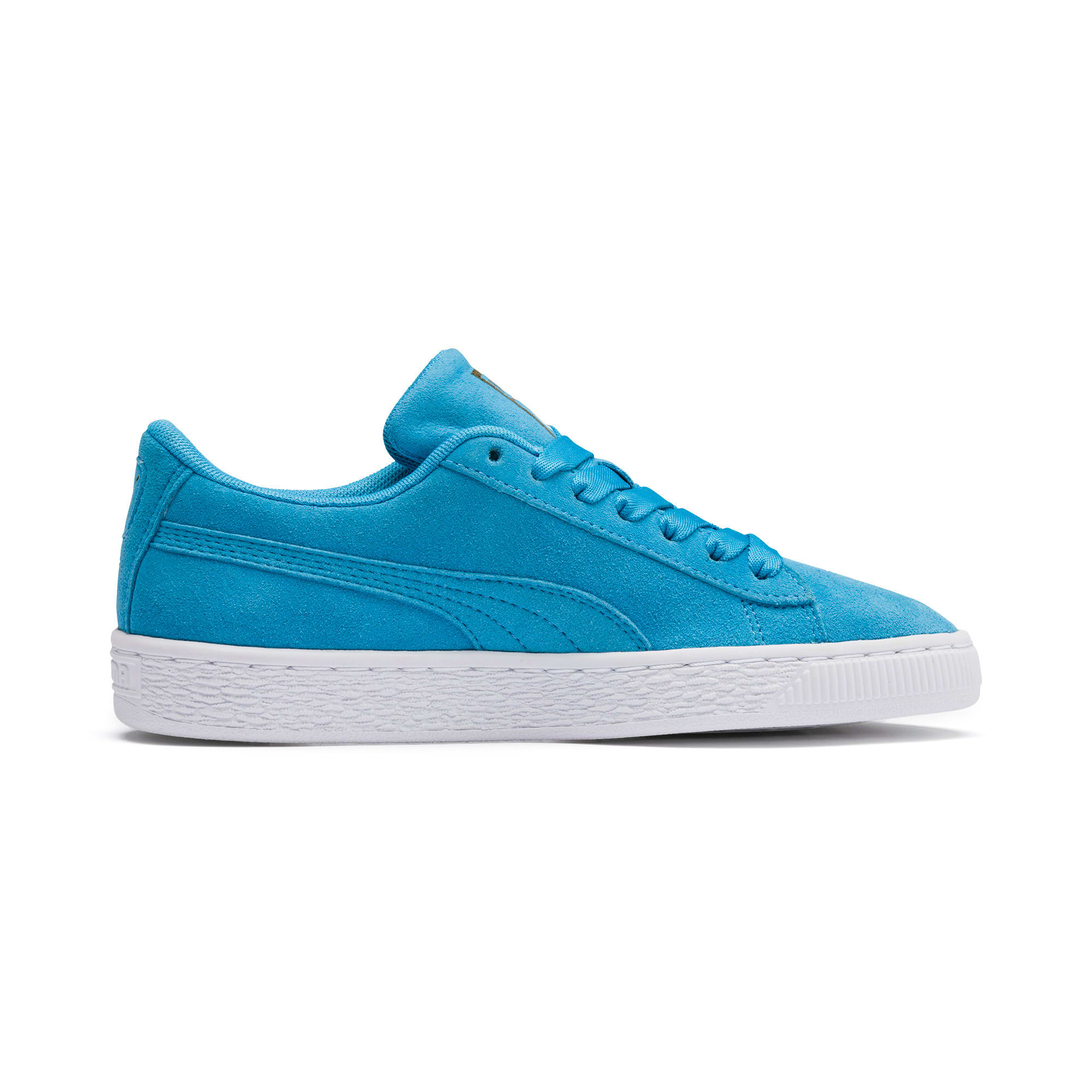 Thumbnail 5 of Sesamstraße 50 Suede Statement Youth Sneaker, Bleu Azur-Puma White, medium
