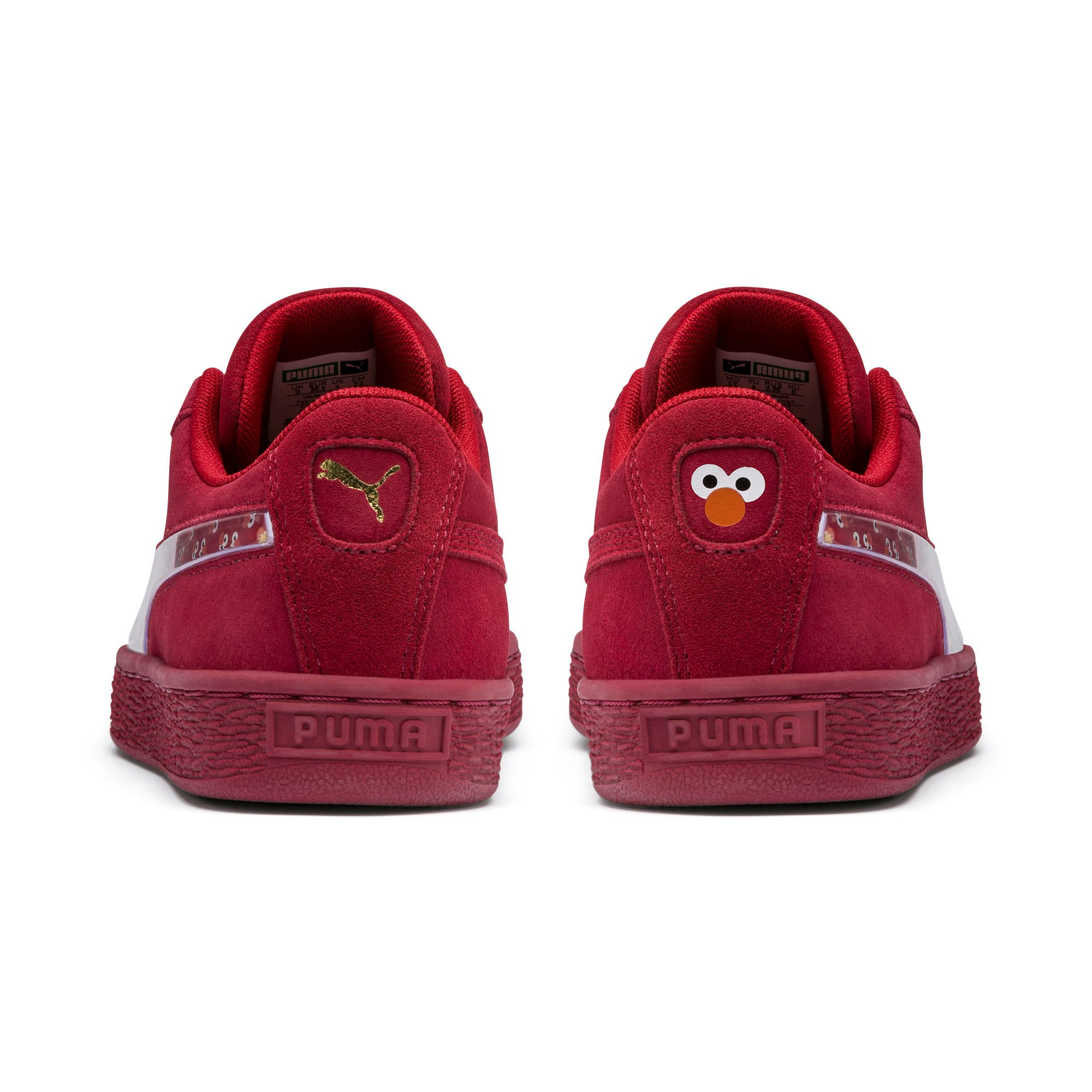 Thumbnail 3 of Sesame Street 50 Suede Statement Youth Trainers, Rhubarb-Puma White, medium