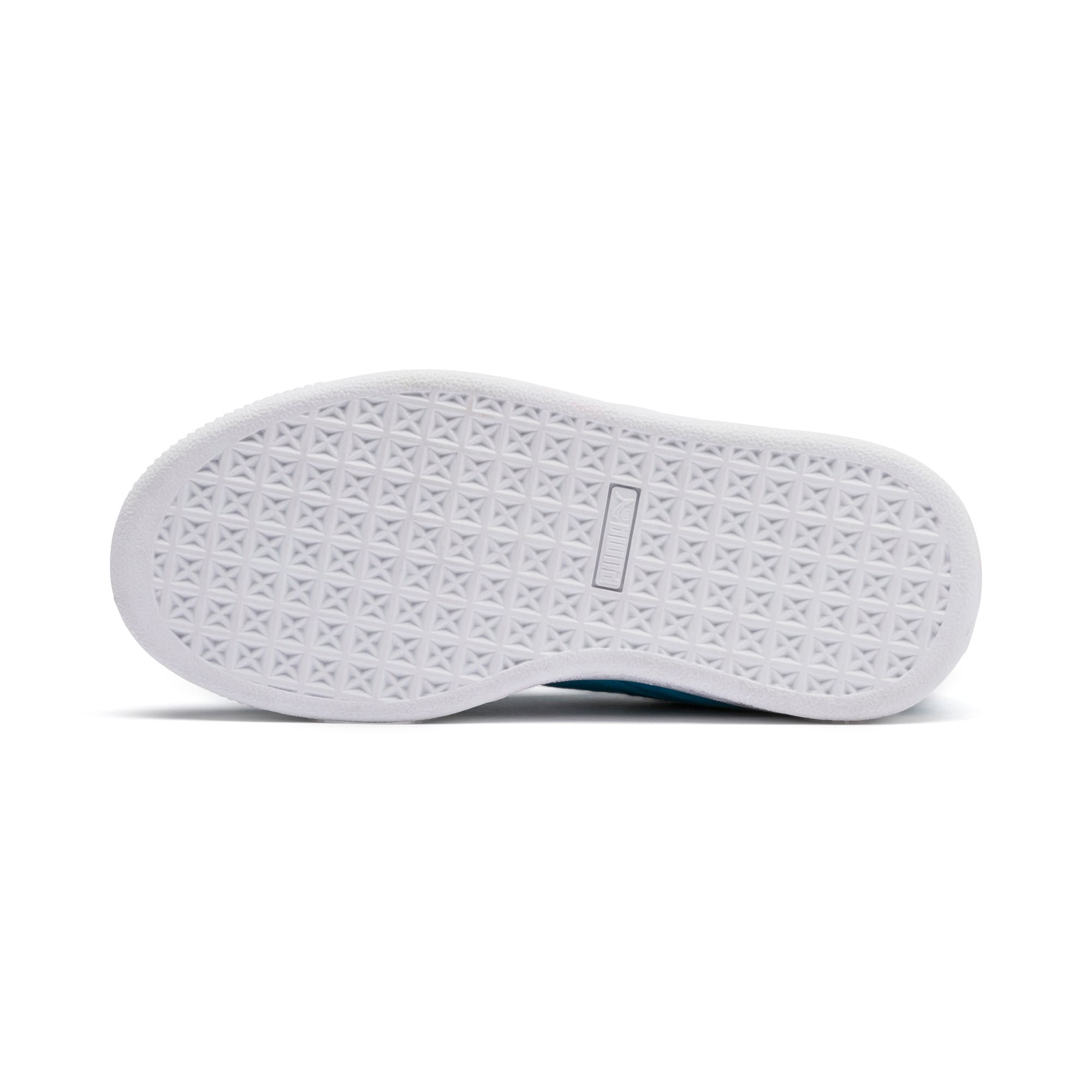 Thumbnail 4 of Sesamstraße 50 Suede Statement Kids Sneaker, Bleu Azur-Puma White, medium