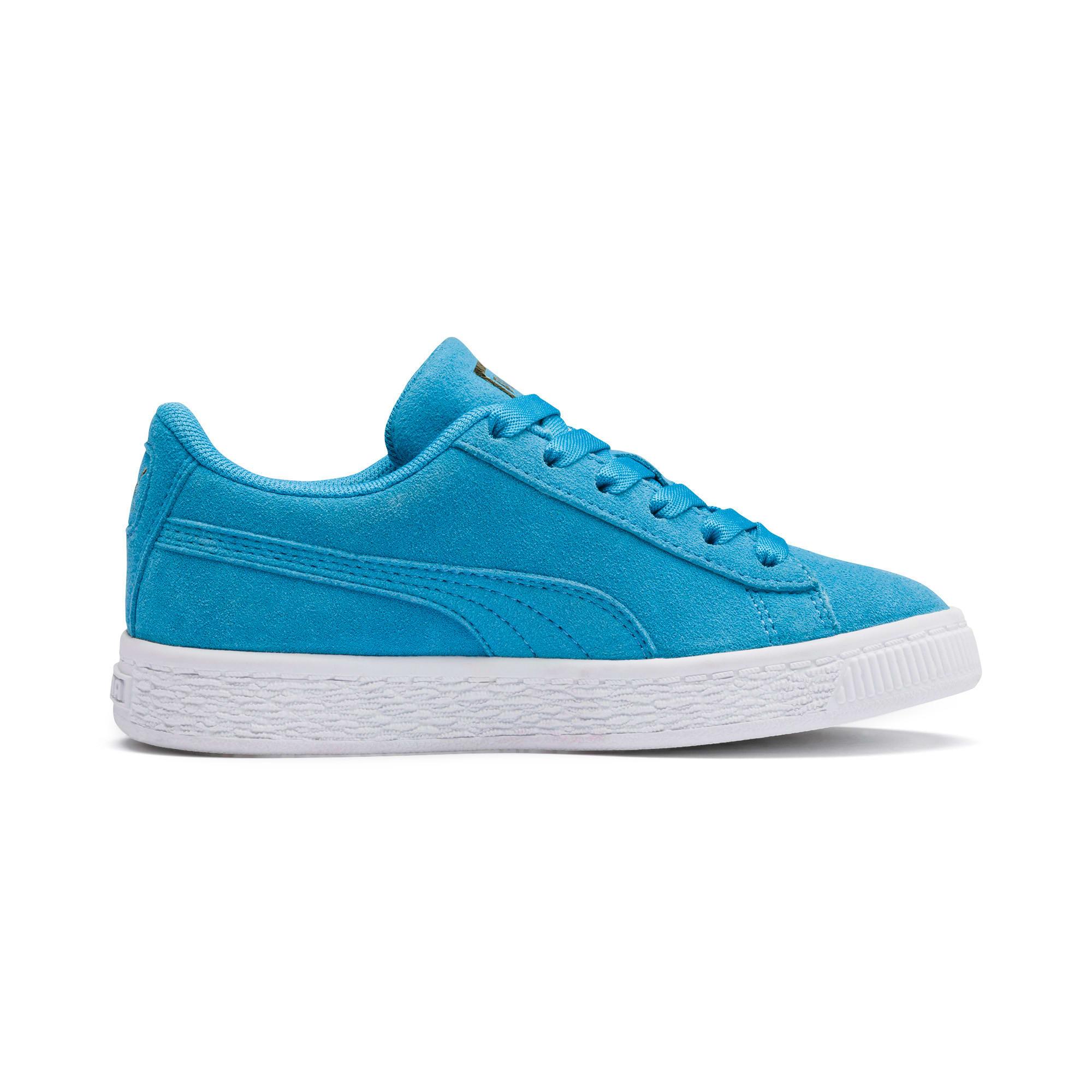 Thumbnail 5 of Sesamstraße 50 Suede Statement Kids Sneaker, Bleu Azur-Puma White, medium