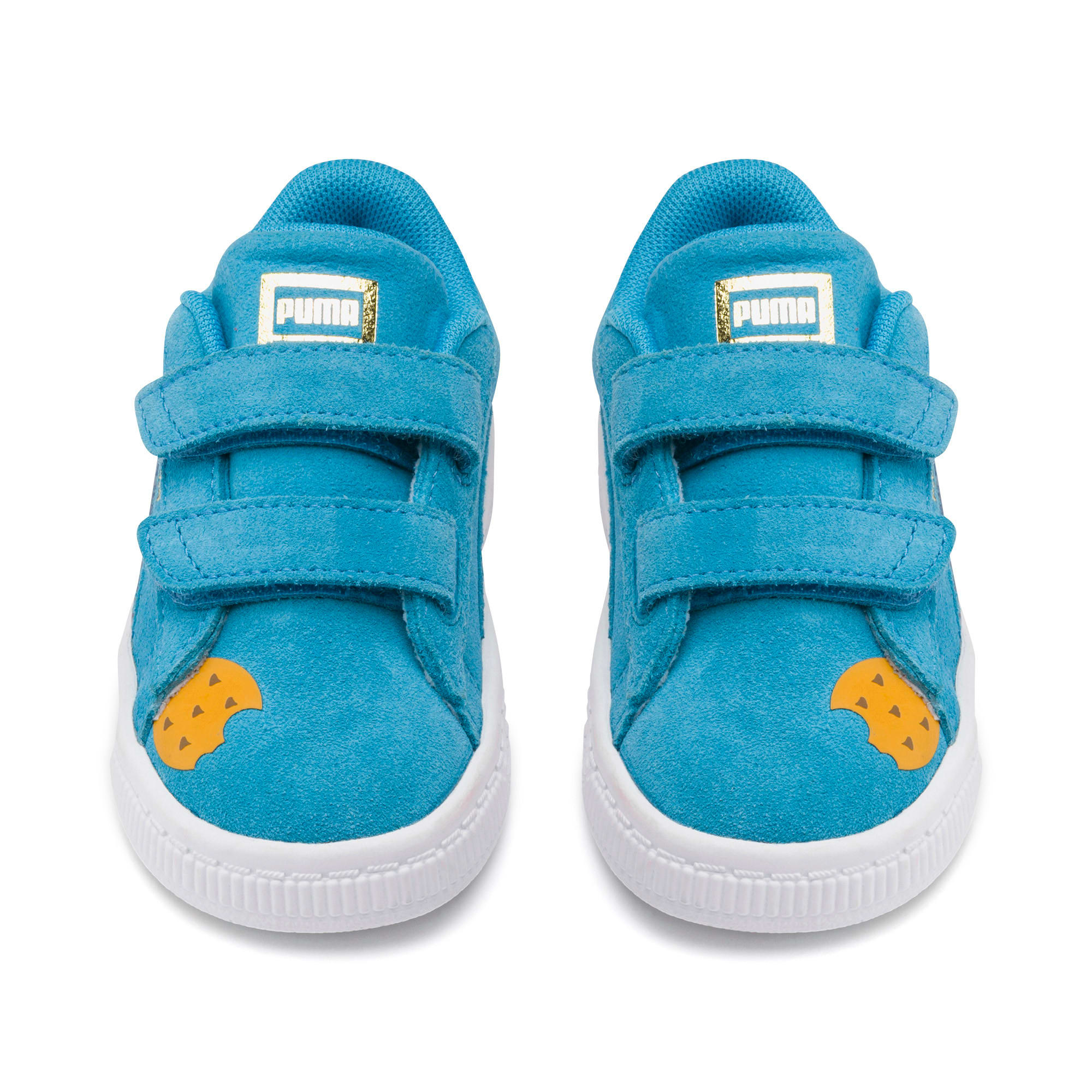 Thumbnail 7 of Sesame Street 50 Suede Statement Babies' Trainers, Bleu Azur-Puma White, medium