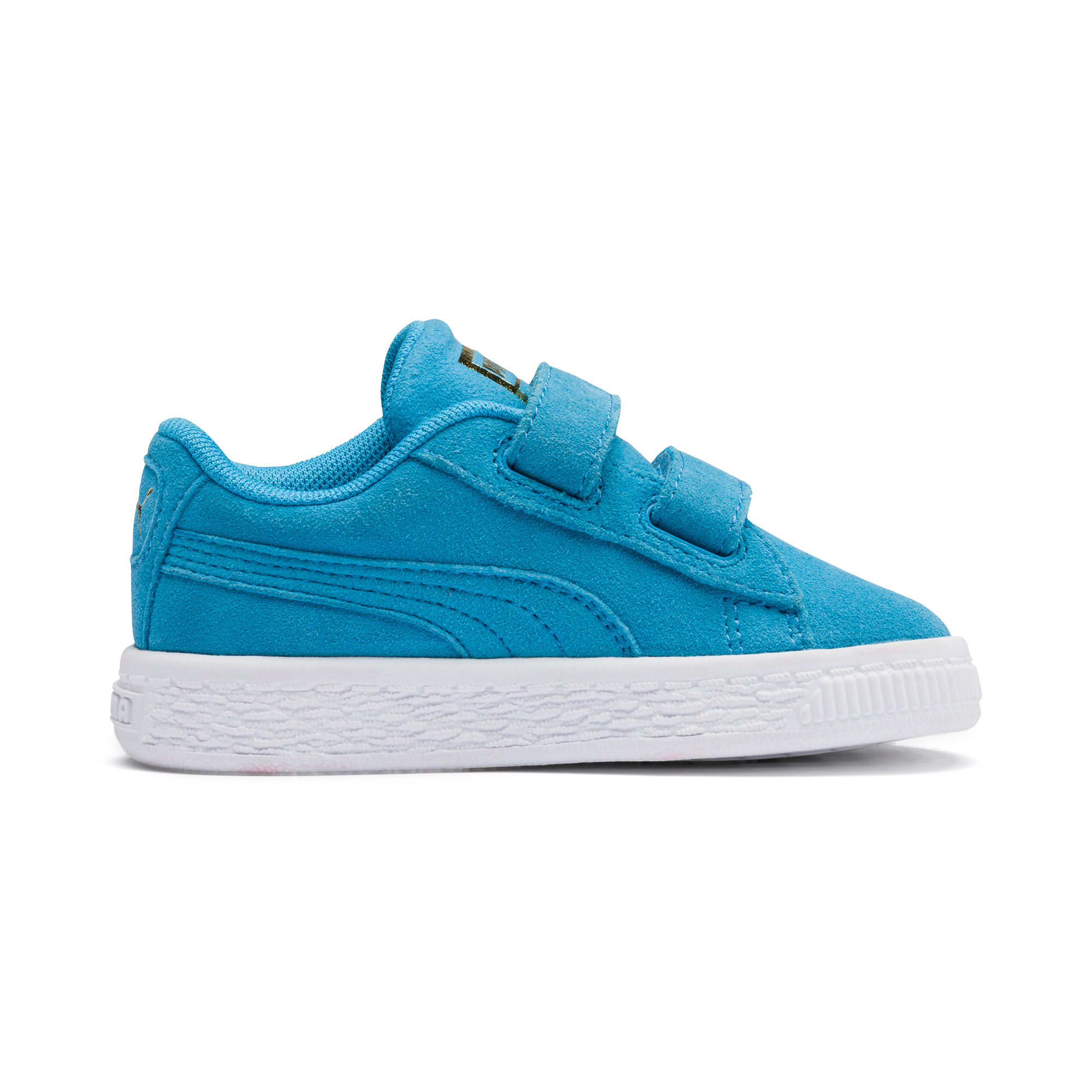 Thumbnail 5 of Sesame Street 50 Suede Statement Babies' Trainers, Bleu Azur-Puma White, medium