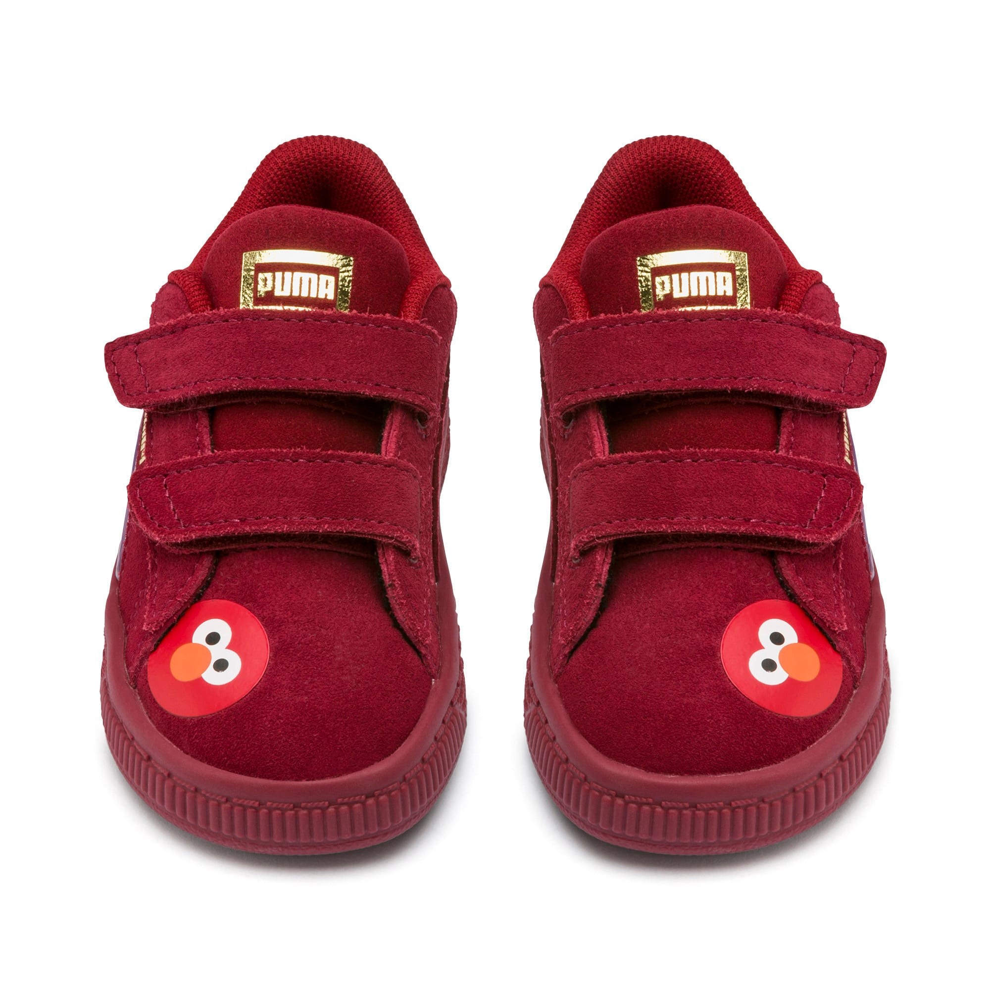Thumbnail 7 of Sesame Street 50 Suede Statement Babies' Trainers, Rhubarb-Puma White, medium