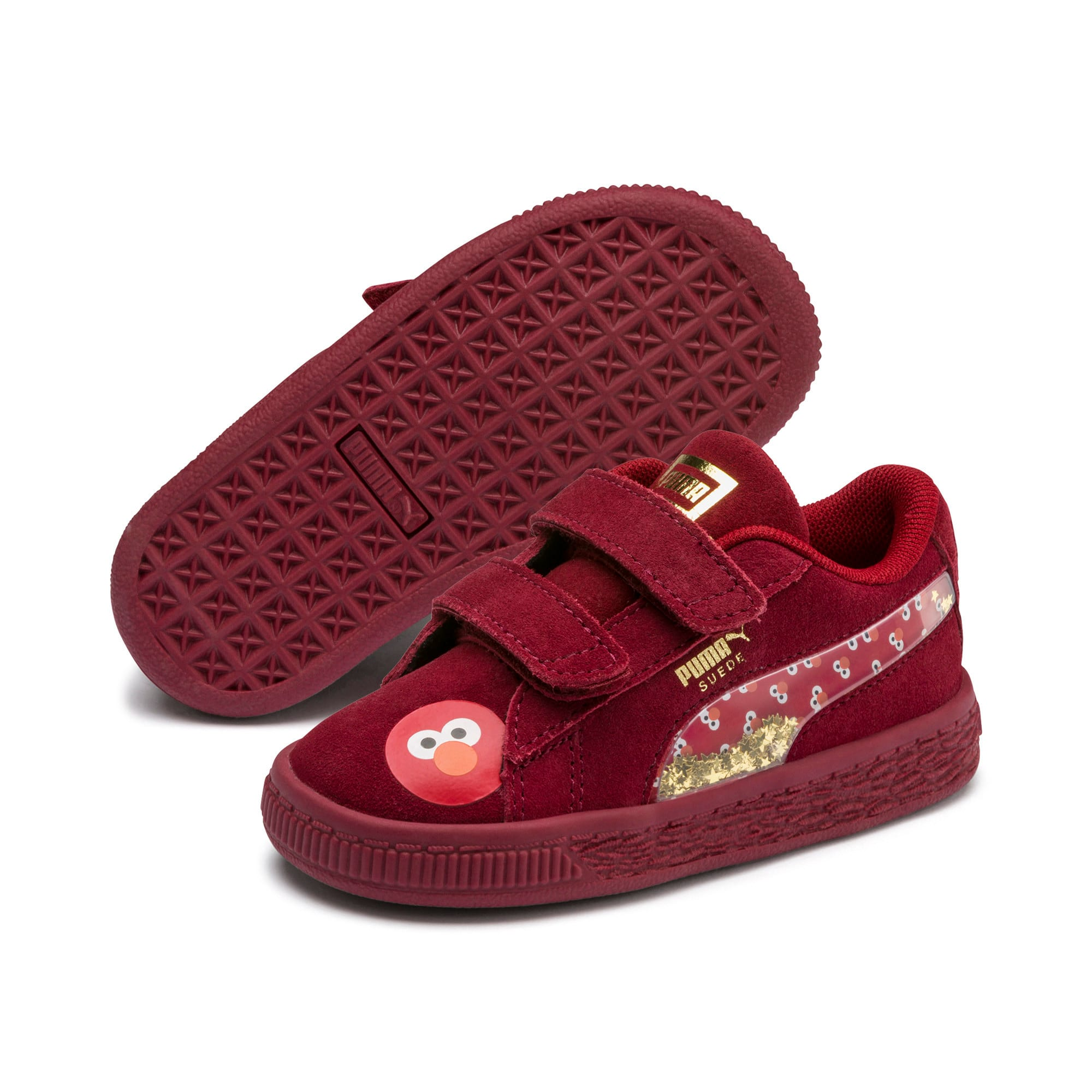 Thumbnail 2 of Sesame Street 50 Suede Statement Babies' Trainers, Rhubarb-Puma White, medium