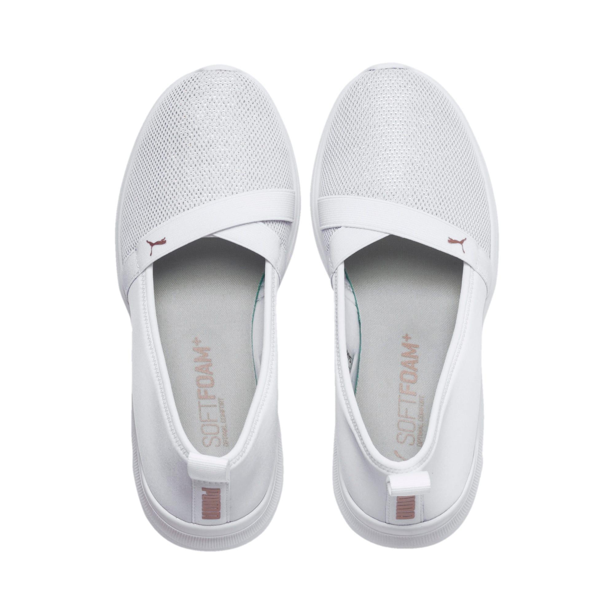 Thumbnail 6 of Adelina Sparkle Women's Ballet Shoes, Puma White-Rose Gold, medium