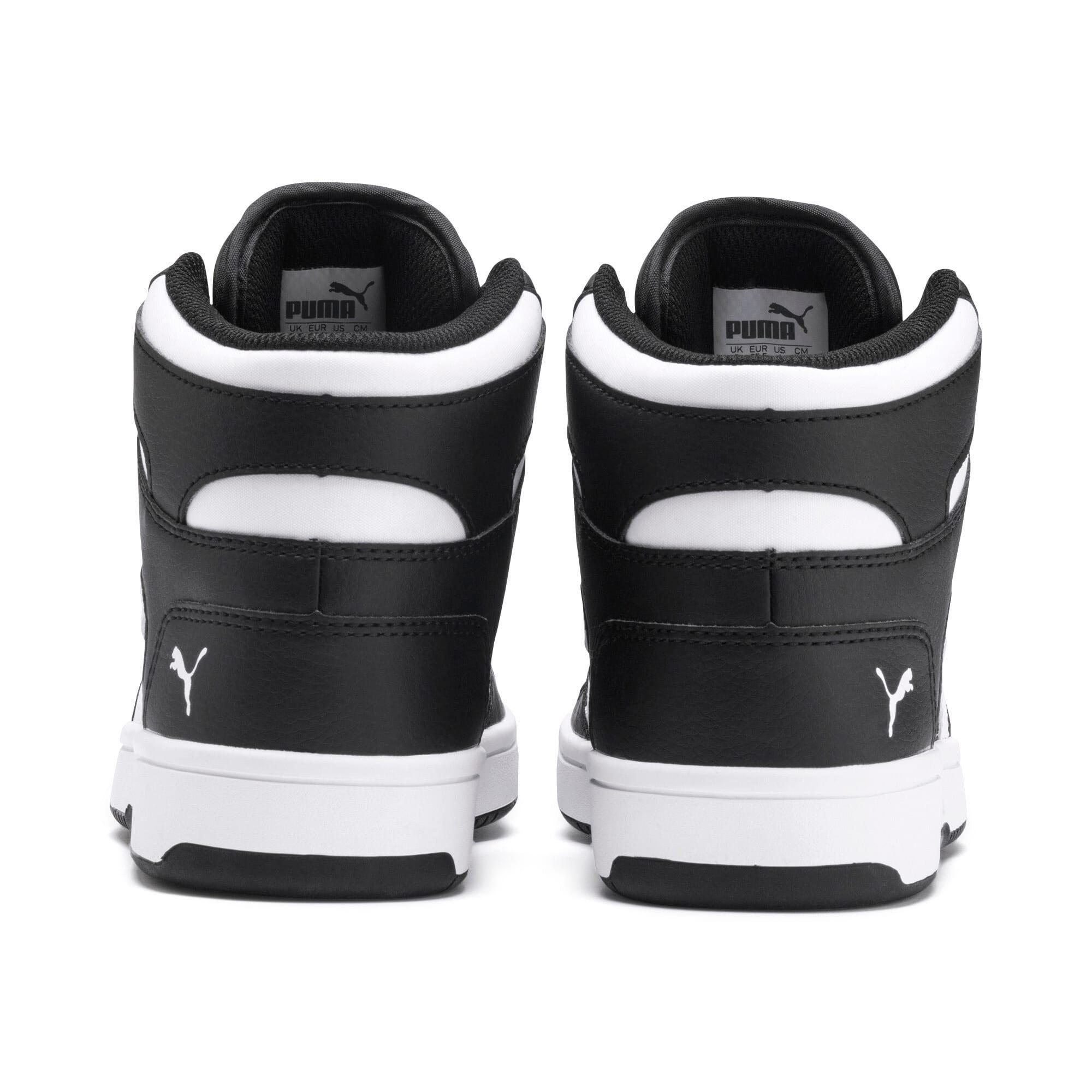 Thumbnail 3 of PUMA Rebound LayUp Mid Sneakers JR, Puma Black-Puma White, medium