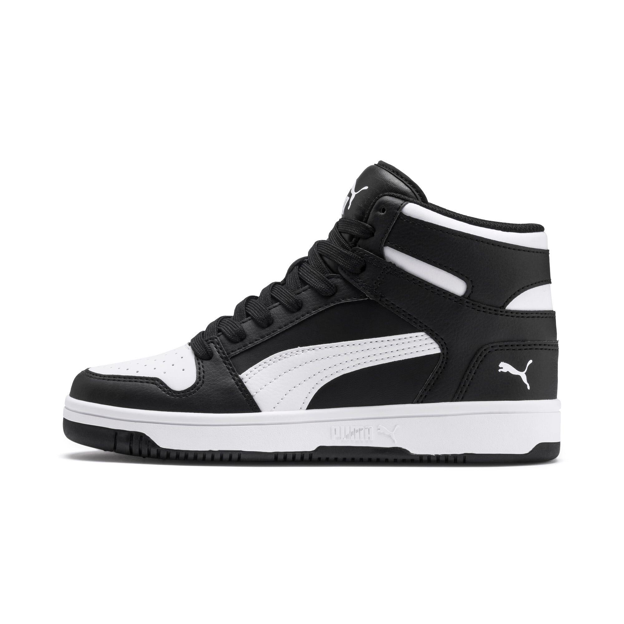 Thumbnail 1 of PUMA Rebound LayUp Mid Sneakers JR, Puma Black-Puma White, medium
