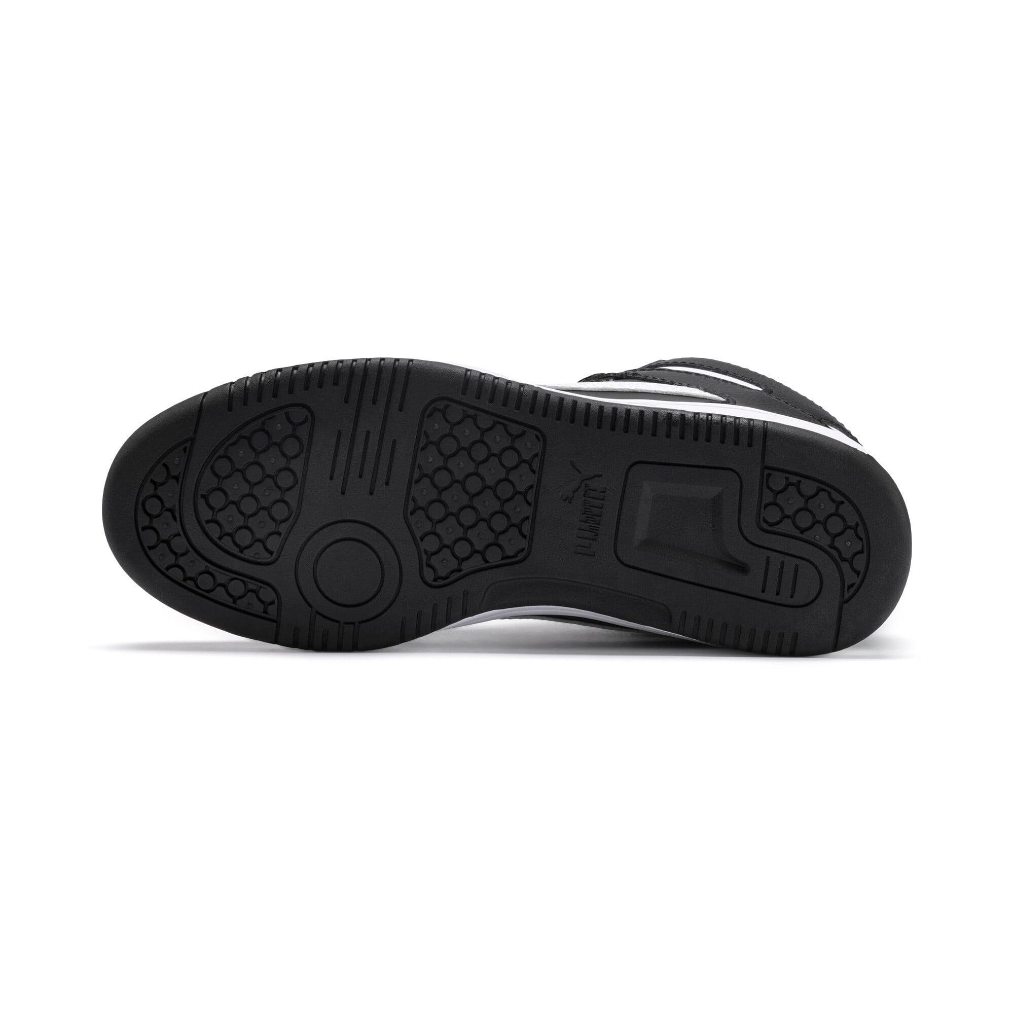 Thumbnail 4 of PUMA Rebound LayUp Mid Sneakers JR, Puma Black-Puma White, medium