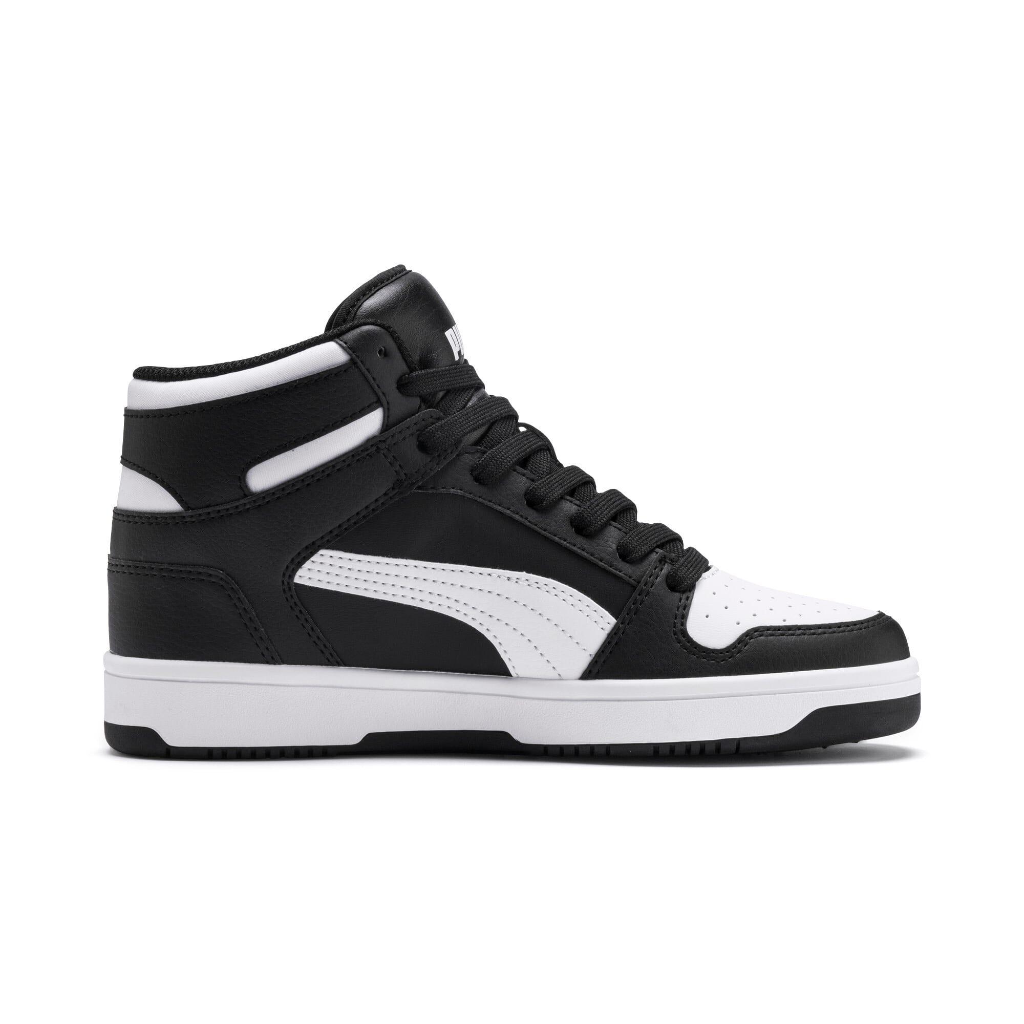 Thumbnail 5 of PUMA Rebound LayUp Mid Sneakers JR, Puma Black-Puma White, medium