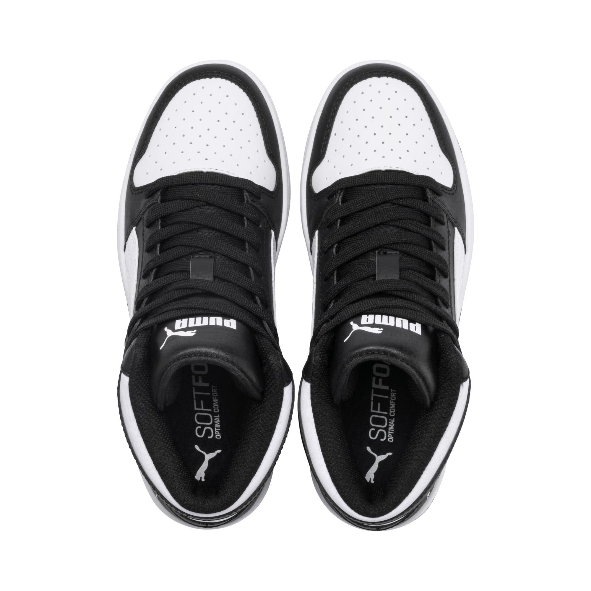 Thumbnail 6 of PUMA Rebound LayUp Mid Sneakers JR, Puma Black-Puma White, medium