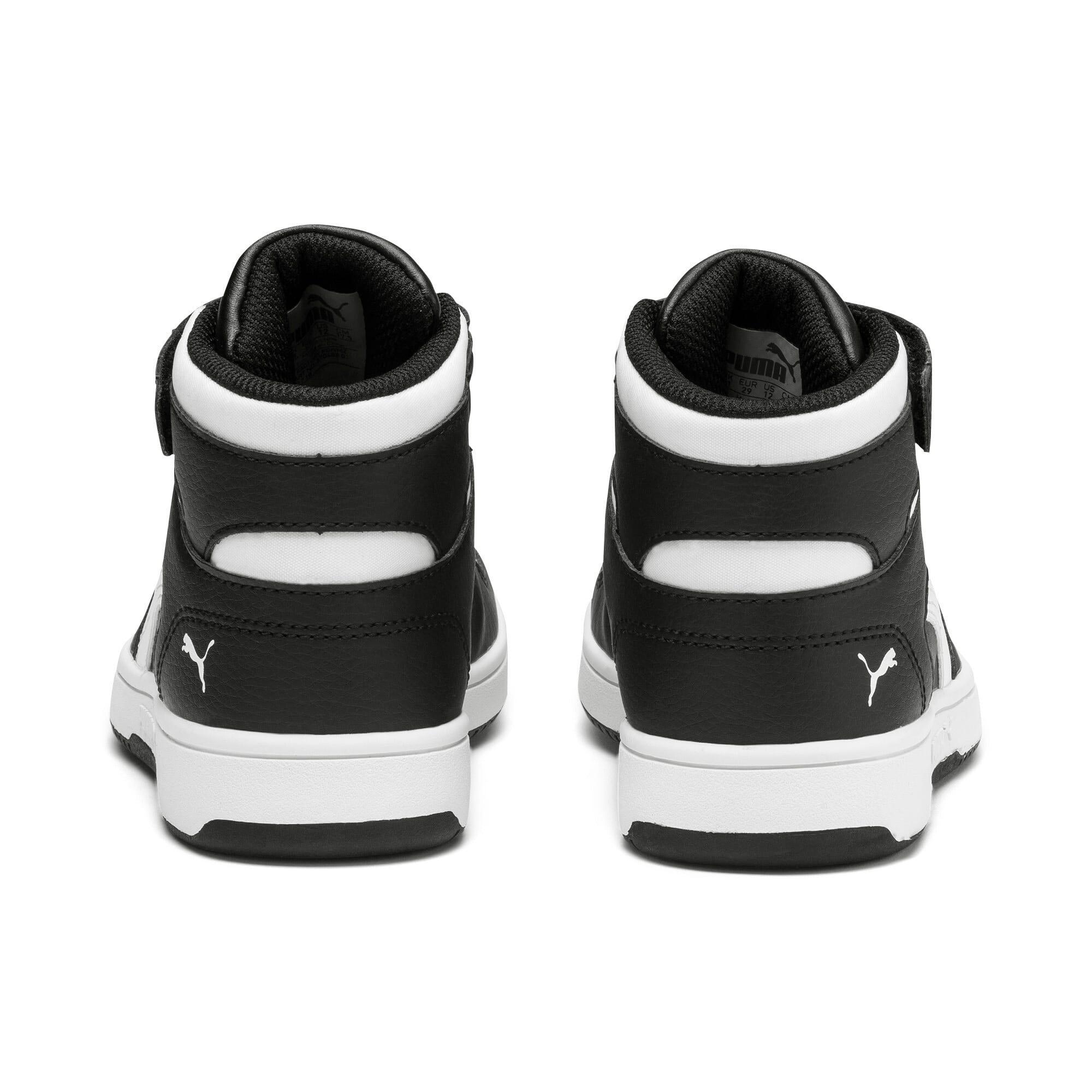 Thumbnail 3 of PUMA Rebound LayUp Little Kids' Shoes, Puma Black-Puma White, medium