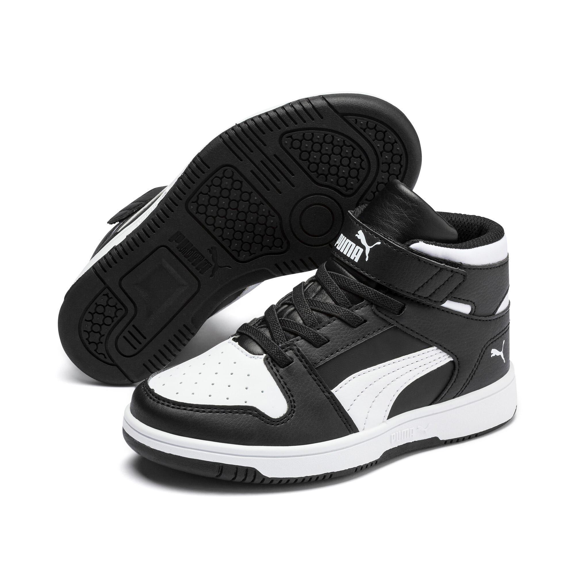 Thumbnail 2 of PUMA Rebound LayUp Little Kids' Shoes, Puma Black-Puma White, medium