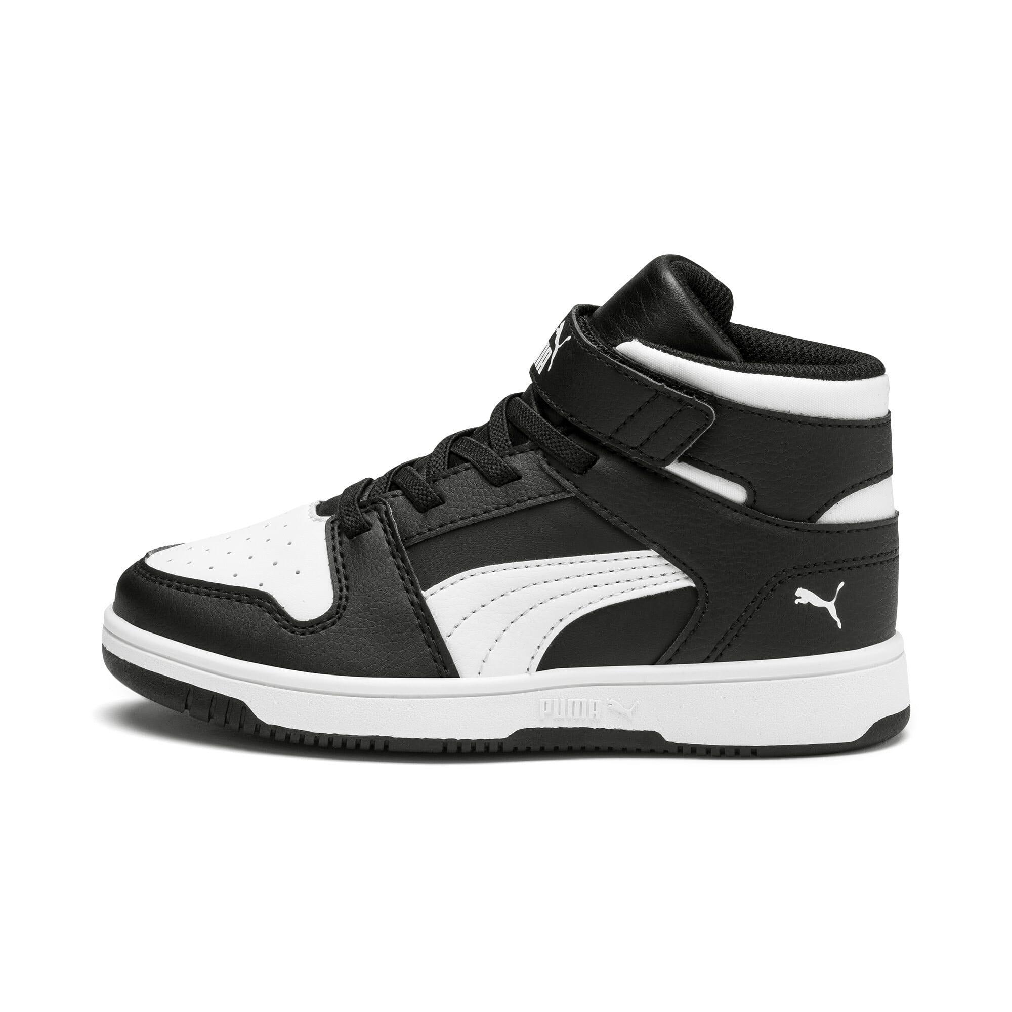 Thumbnail 1 of PUMA Rebound LayUp Little Kids' Shoes, Puma Black-Puma White, medium