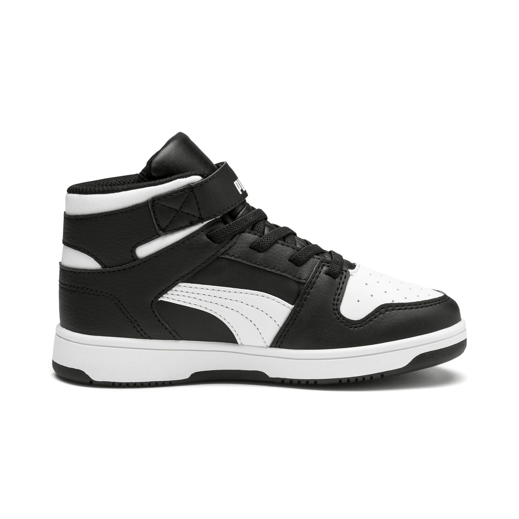 Thumbnail 5 of PUMA Rebound LayUp Little Kids' Shoes, Puma Black-Puma White, medium