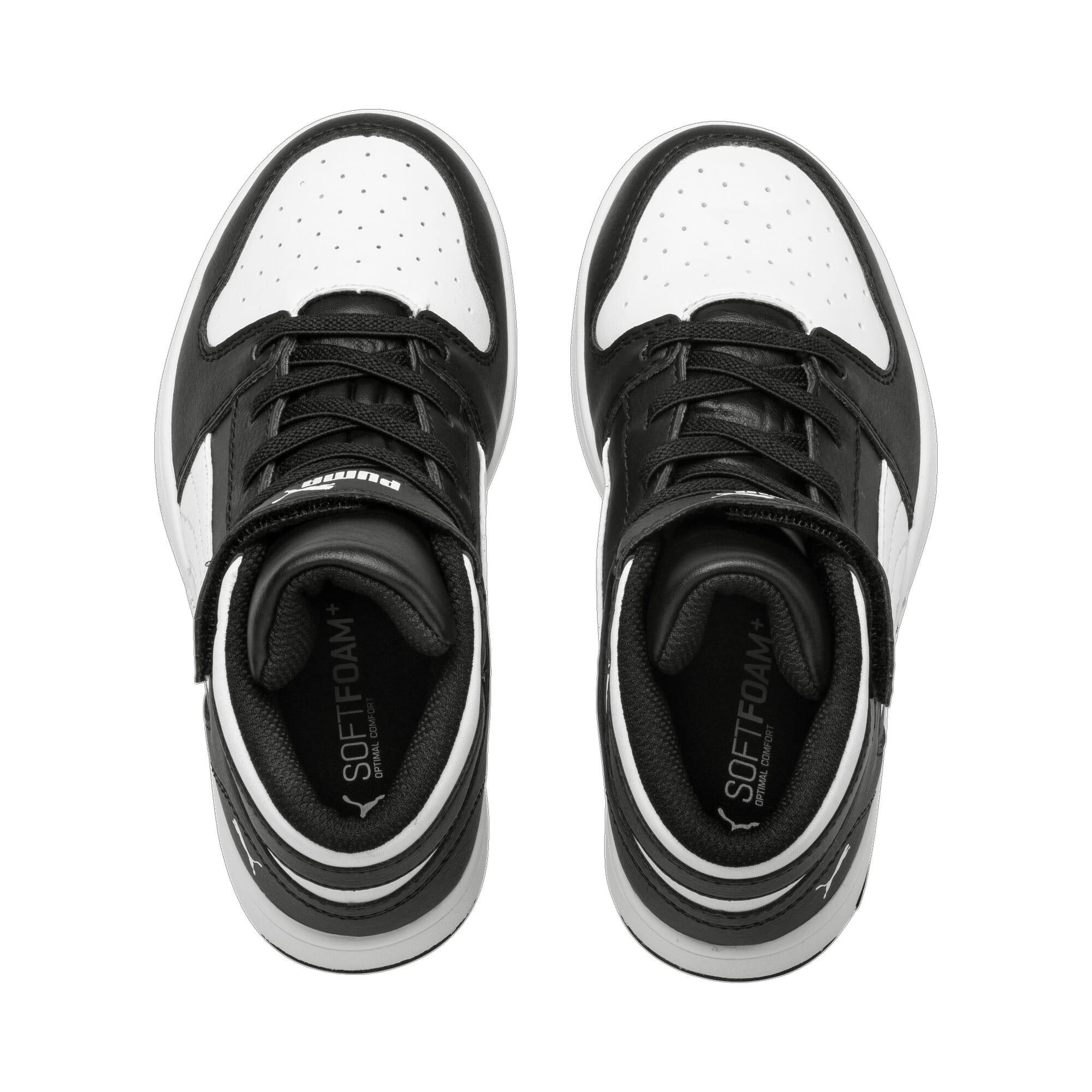 Thumbnail 6 of PUMA Rebound LayUp Little Kids' Shoes, Puma Black-Puma White, medium