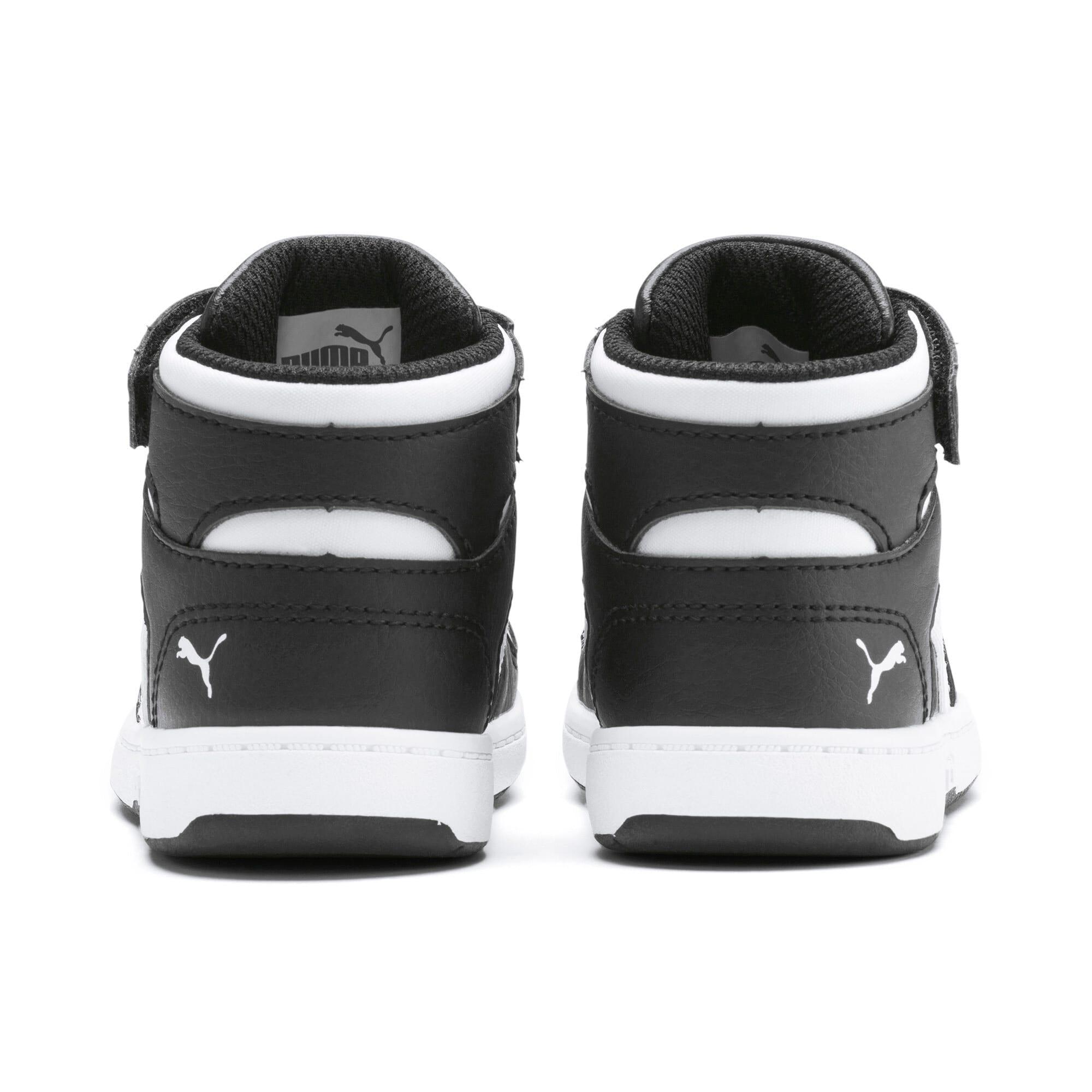 Thumbnail 3 of PUMA Rebound LayUp Toddler Shoes, Puma Black-Puma White, medium