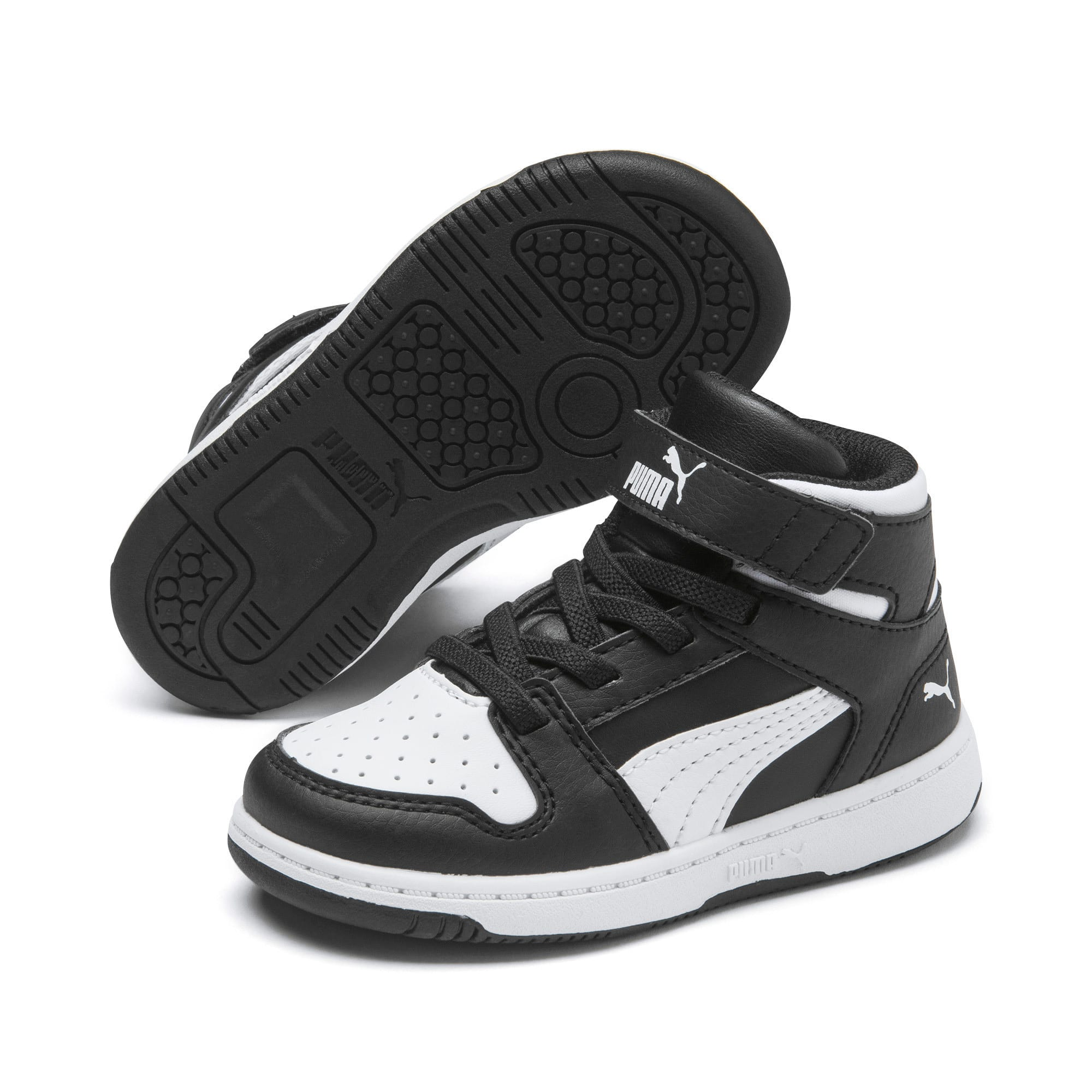 Thumbnail 2 of PUMA Rebound LayUp Toddler Shoes, Puma Black-Puma White, medium