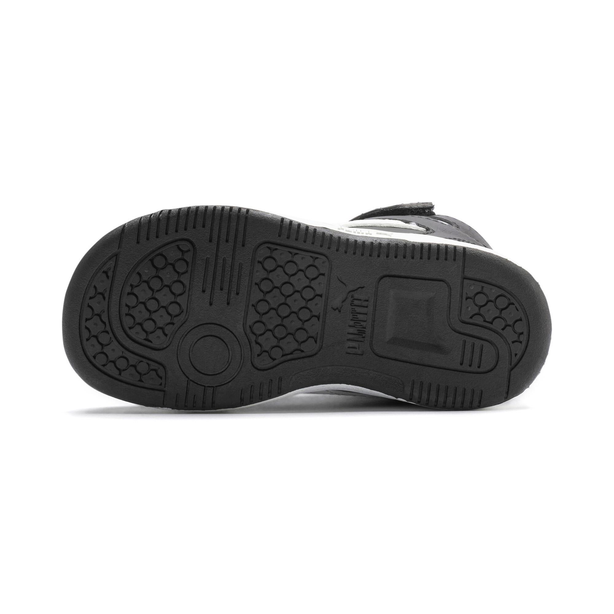 Thumbnail 4 of PUMA Rebound LayUp Toddler Shoes, Puma Black-Puma White, medium
