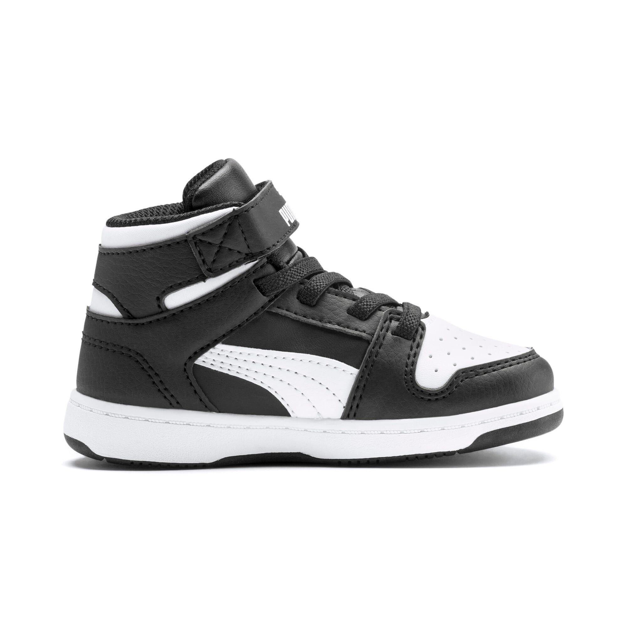 Thumbnail 5 of PUMA Rebound LayUp Toddler Shoes, Puma Black-Puma White, medium