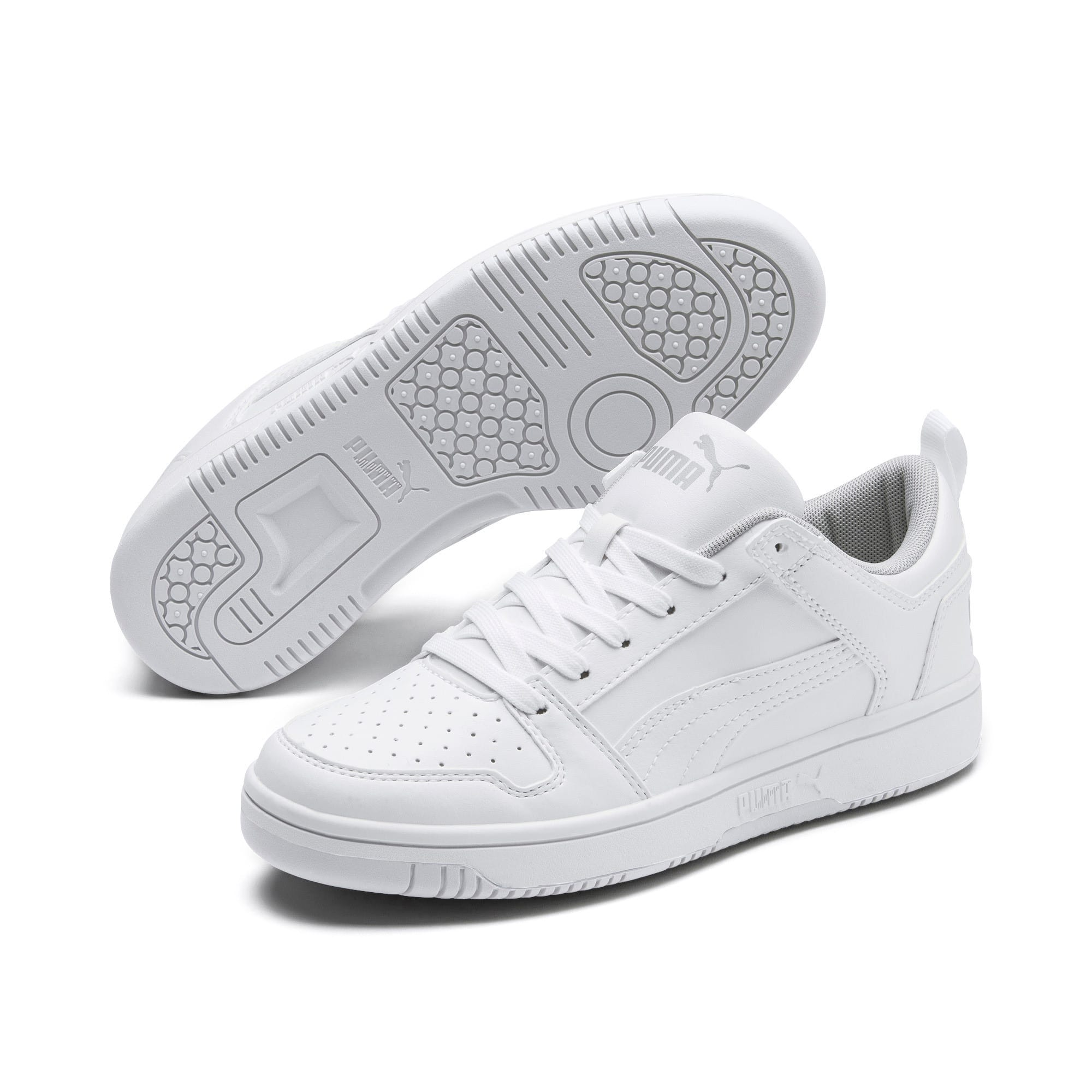 Thumbnail 2 of PUMA Rebound LayUp Lo Sneakers JR, Puma White-High Rise, medium