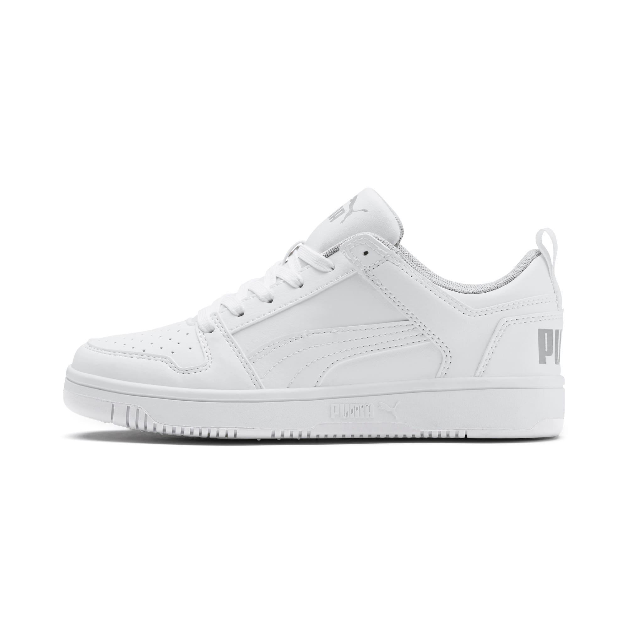 Thumbnail 1 of PUMA Rebound LayUp Lo Sneakers JR, Puma White-High Rise, medium