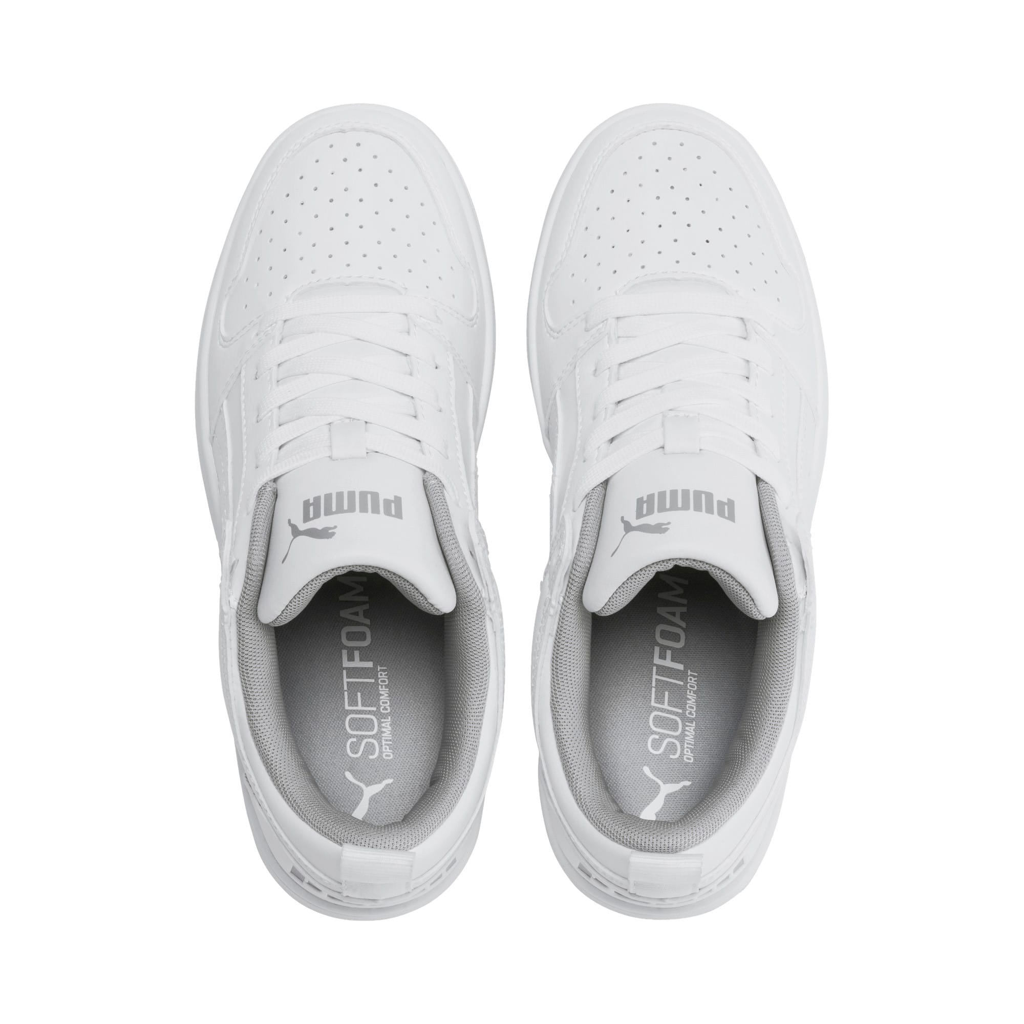 Thumbnail 6 of PUMA Rebound LayUp Lo Sneakers JR, Puma White-High Rise, medium
