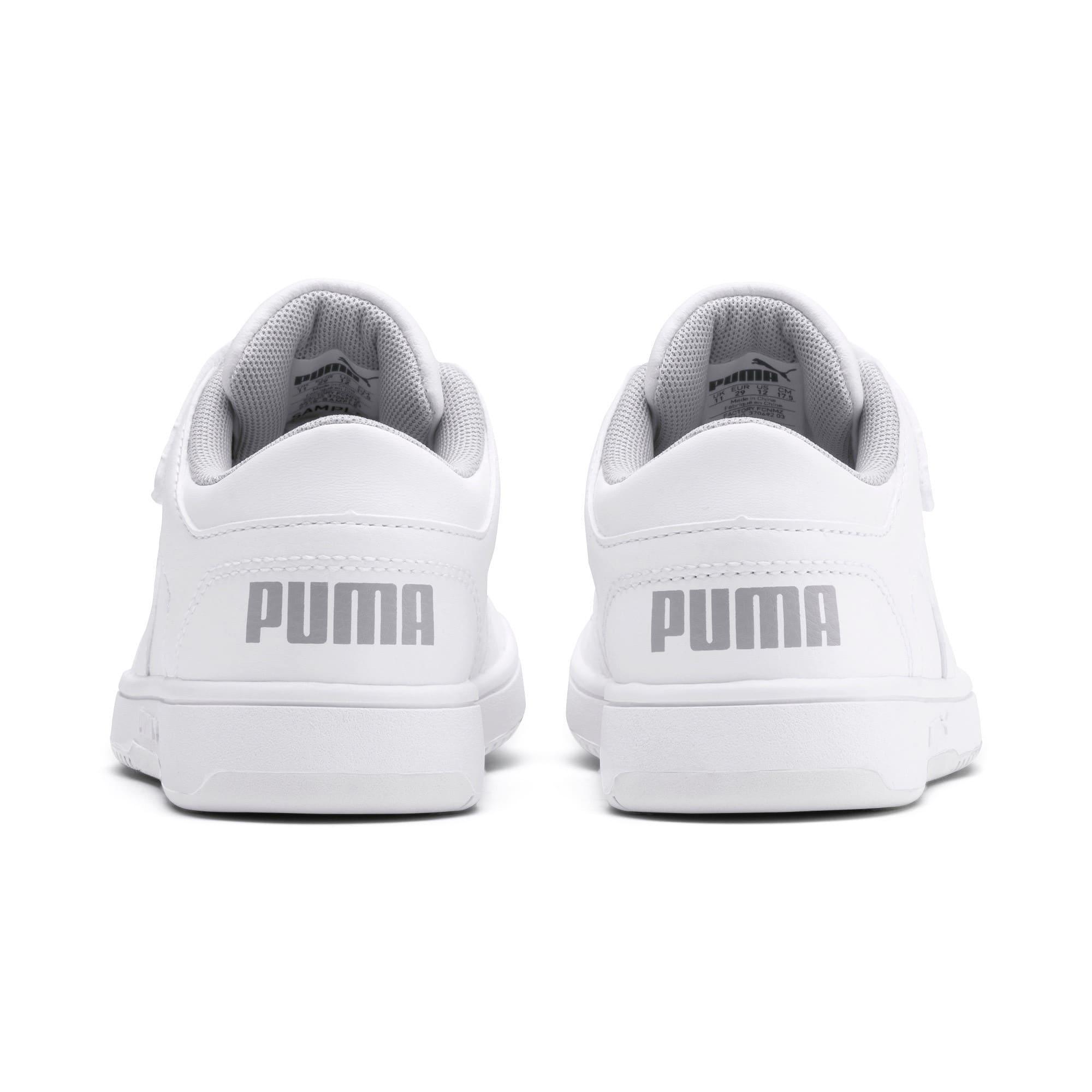 Thumbnail 3 of PUMA Rebound LayUp Lo Little Kids' Shoes, Puma White-High Rise, medium