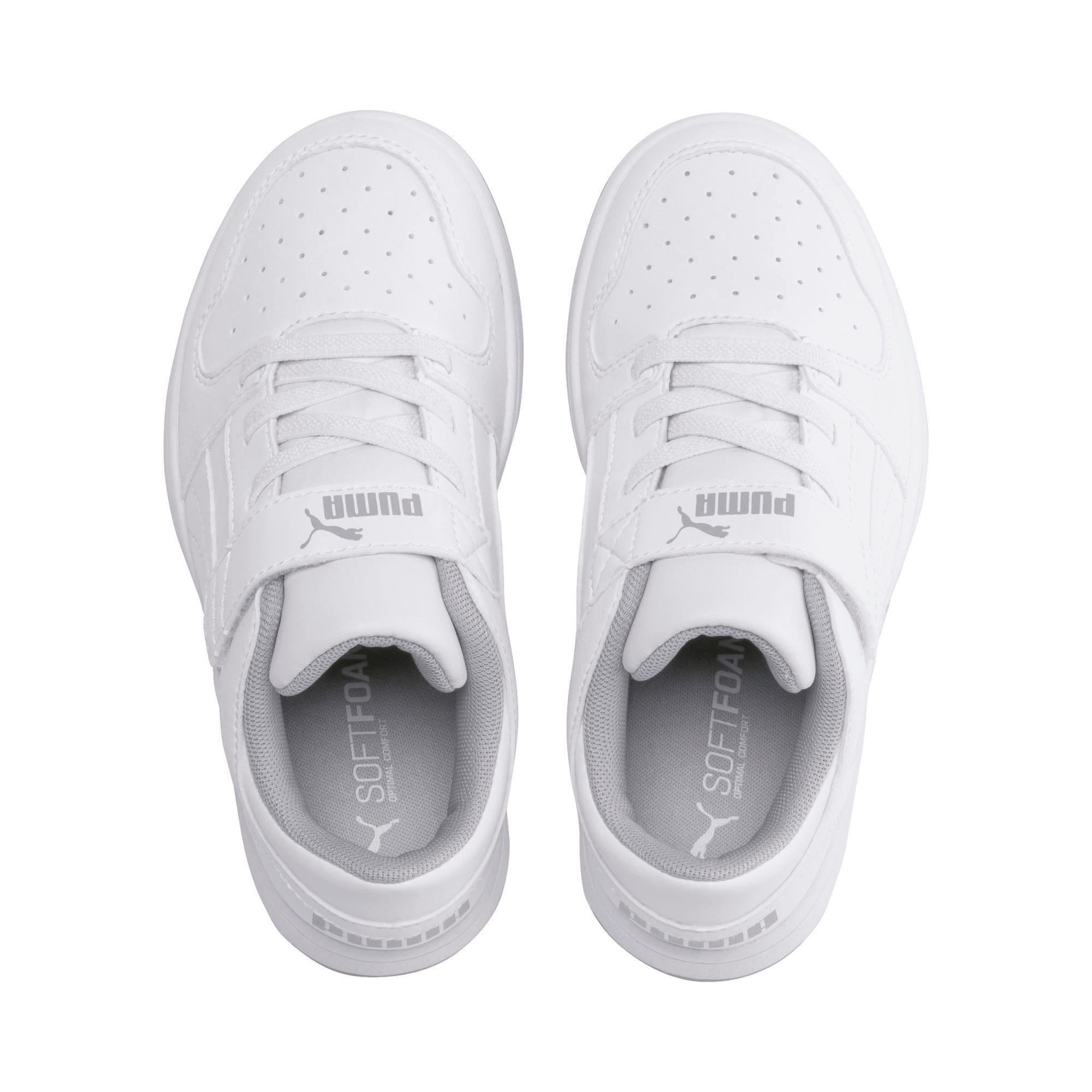 Thumbnail 6 of PUMA Rebound LayUp Lo Little Kids' Shoes, Puma White-High Rise, medium