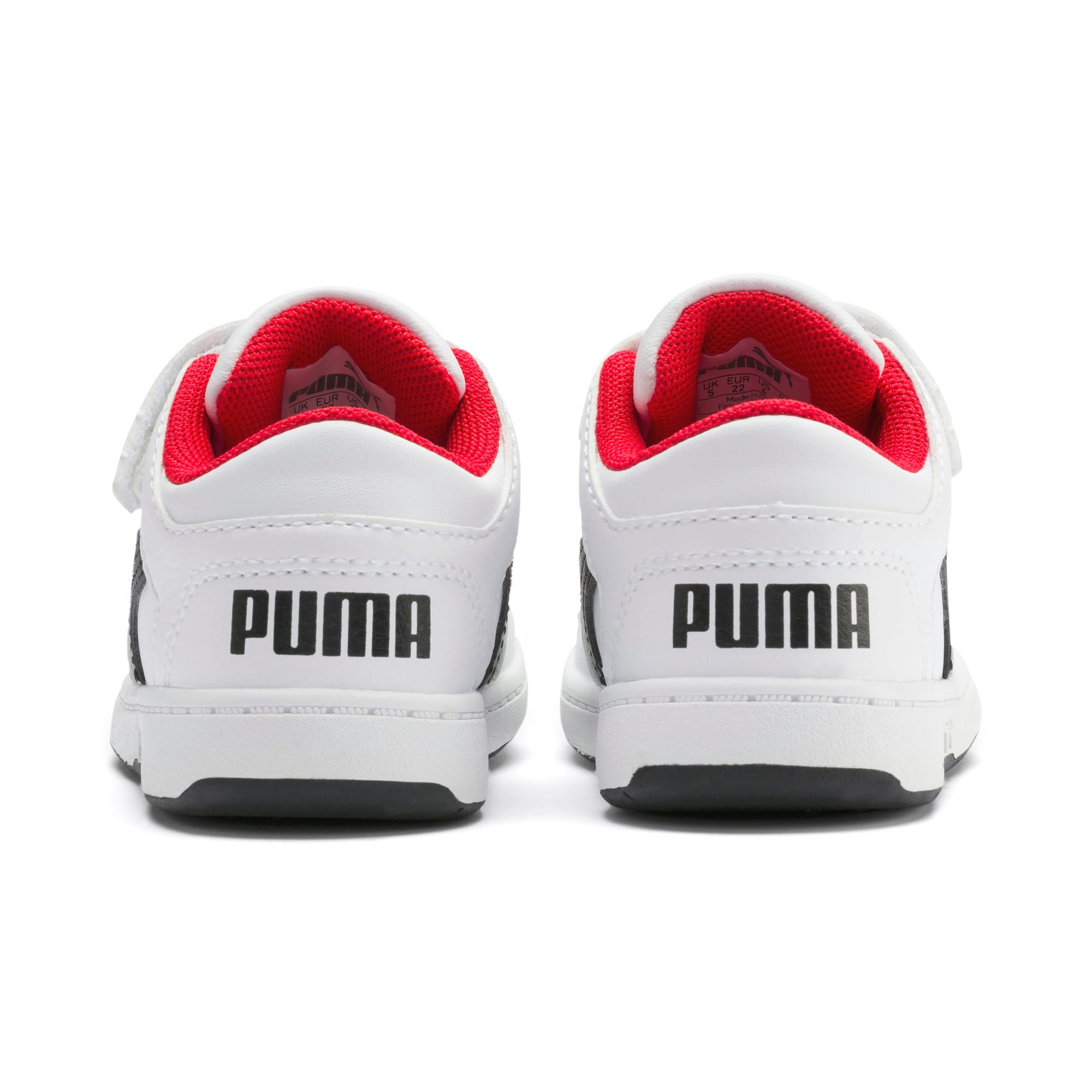 Miniatura 3 de Zapatos deportivos PUMA Rebound LayUp Lo para INF, Puma White-Puma Black-Red, mediano