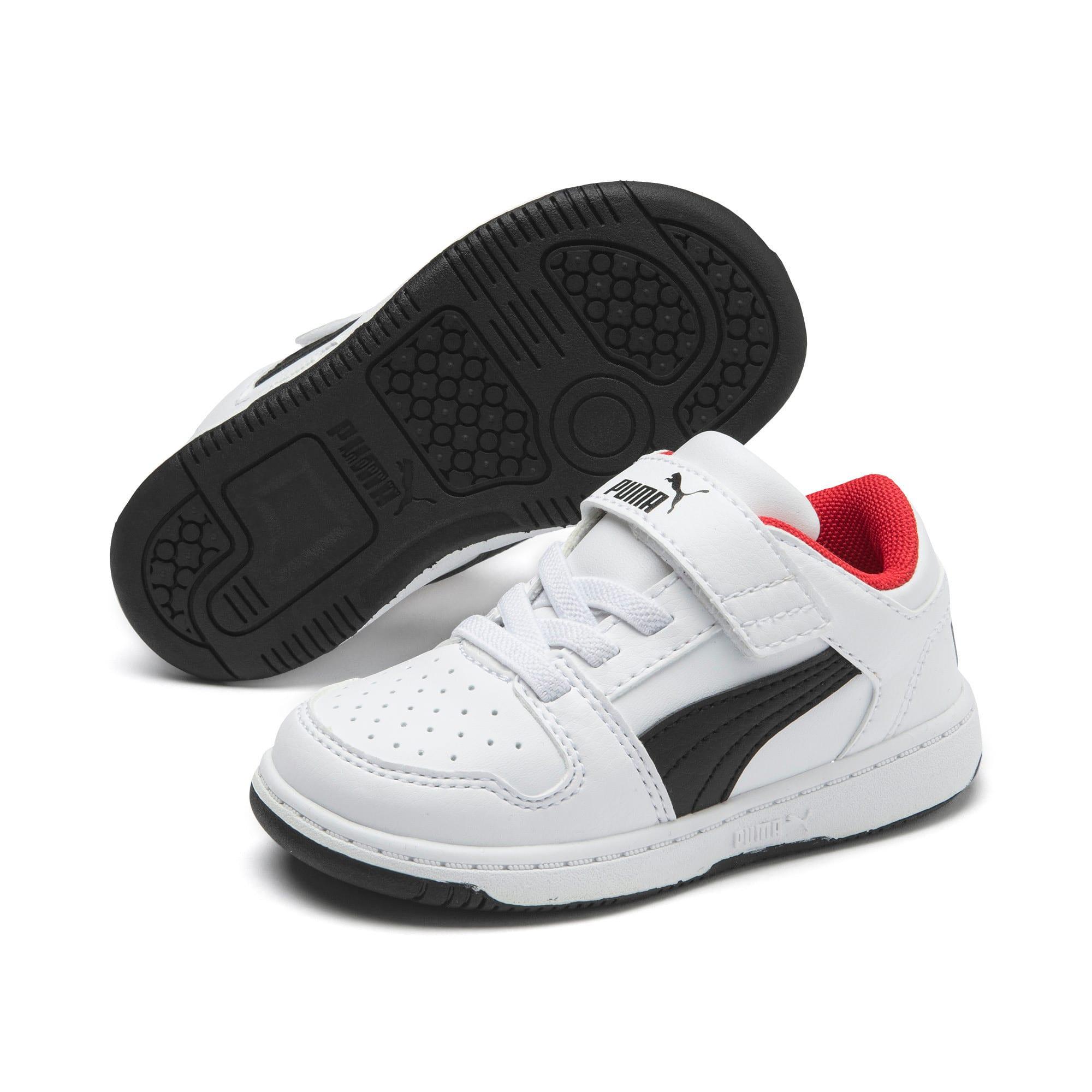 Miniatura 2 de Zapatos deportivos PUMA Rebound LayUp Lo para INF, Puma White-Puma Black-Red, mediano