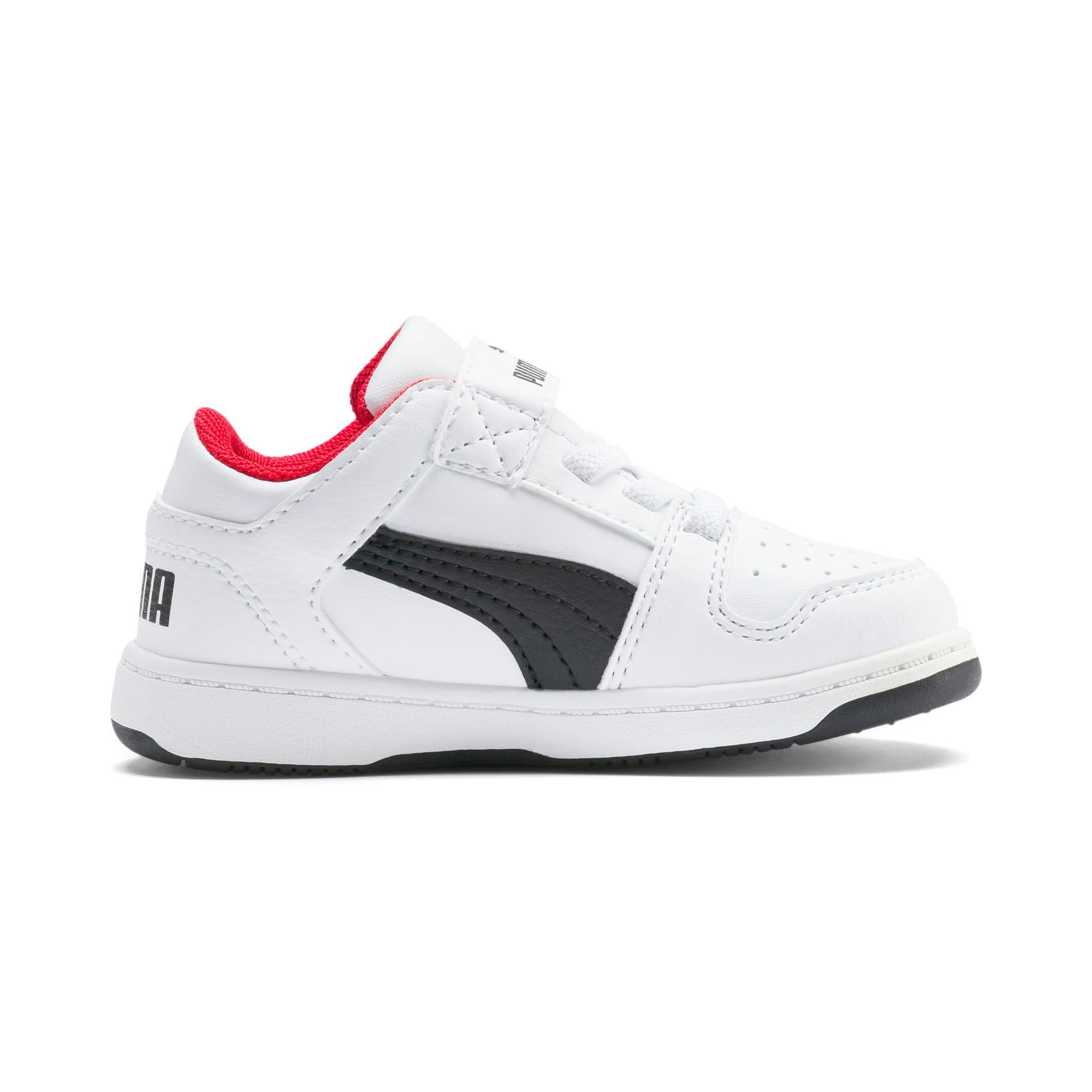 Miniatura 5 de Zapatos deportivos PUMA Rebound LayUp Lo para INF, Puma White-Puma Black-Red, mediano