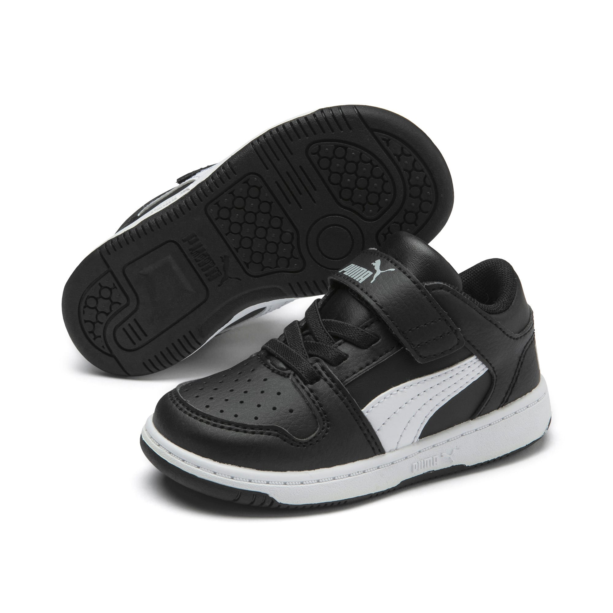 Miniatura 2 de Zapatos deportivos PUMA Rebound LayUp Lo para INF, Puma Black-Blanco-High Rise, mediano