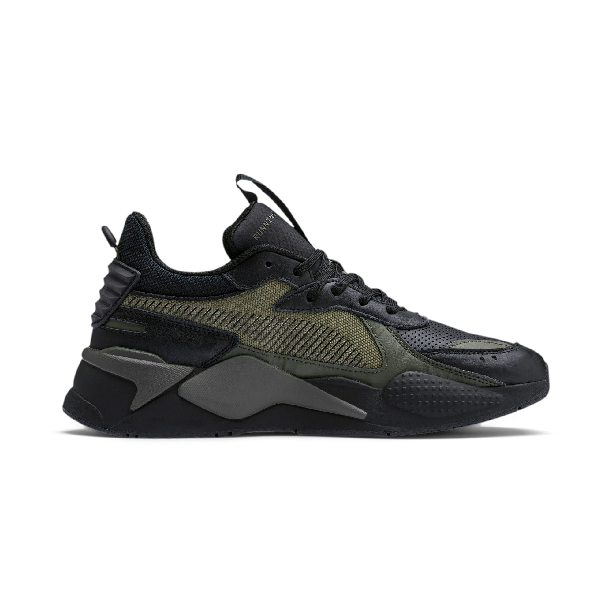 RS-X Winterized Sneakers, Puma Black-Burnt Olive, large