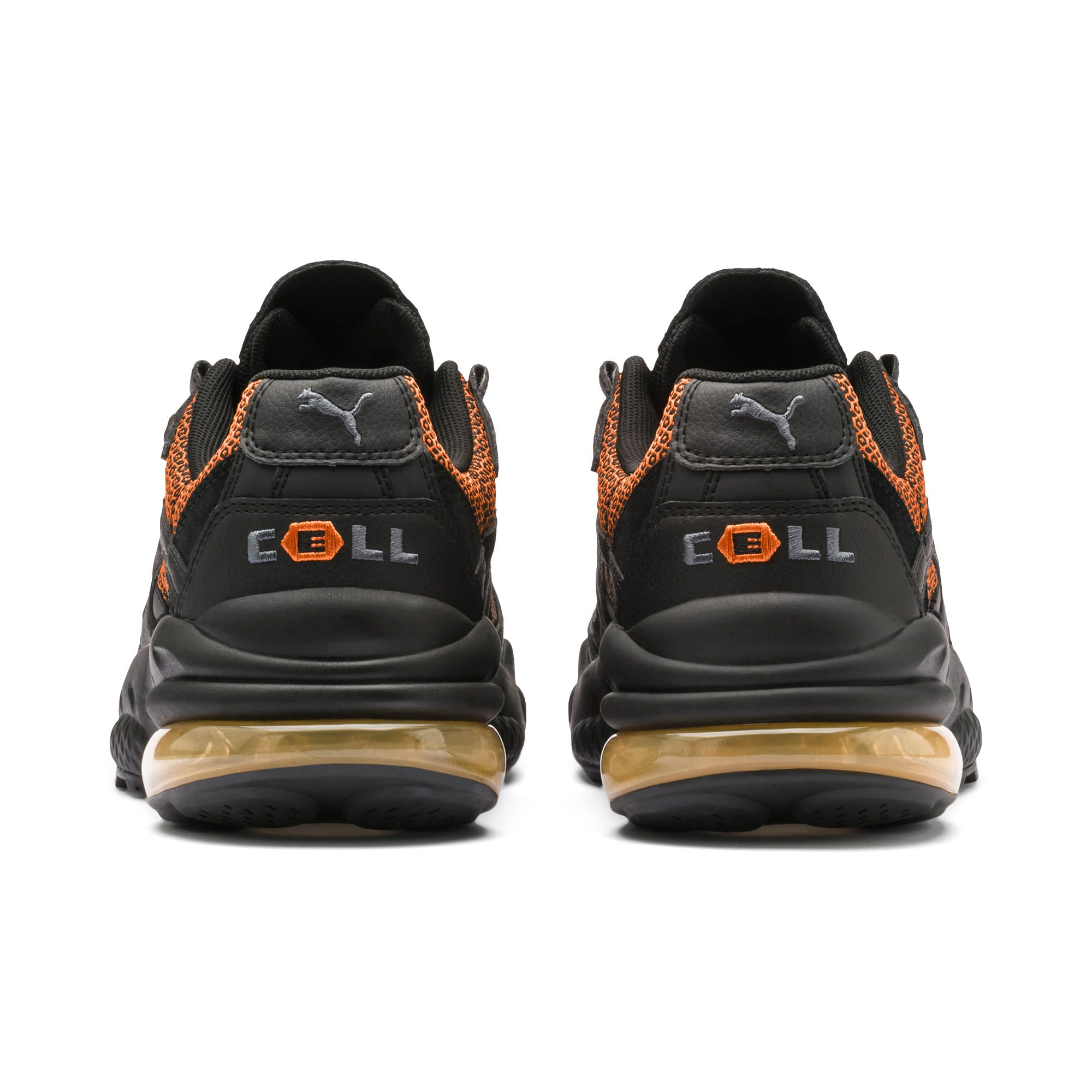 Thumbnail 4 of CELL Venom Lux Trainers, Puma Black-Jaffa Orange, medium