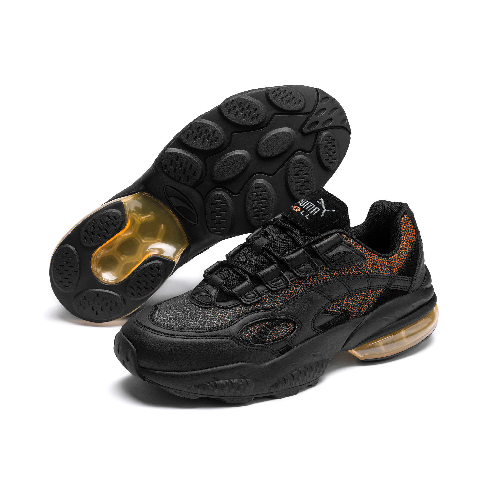 Thumbnail 3 of CELL Venom Lux Trainers, Puma Black-Jaffa Orange, medium