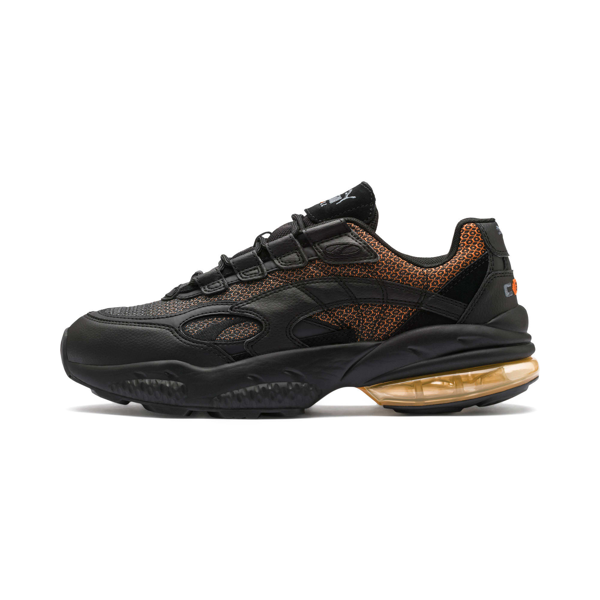 Thumbnail 1 of CELL Venom Lux Trainers, Puma Black-Jaffa Orange, medium