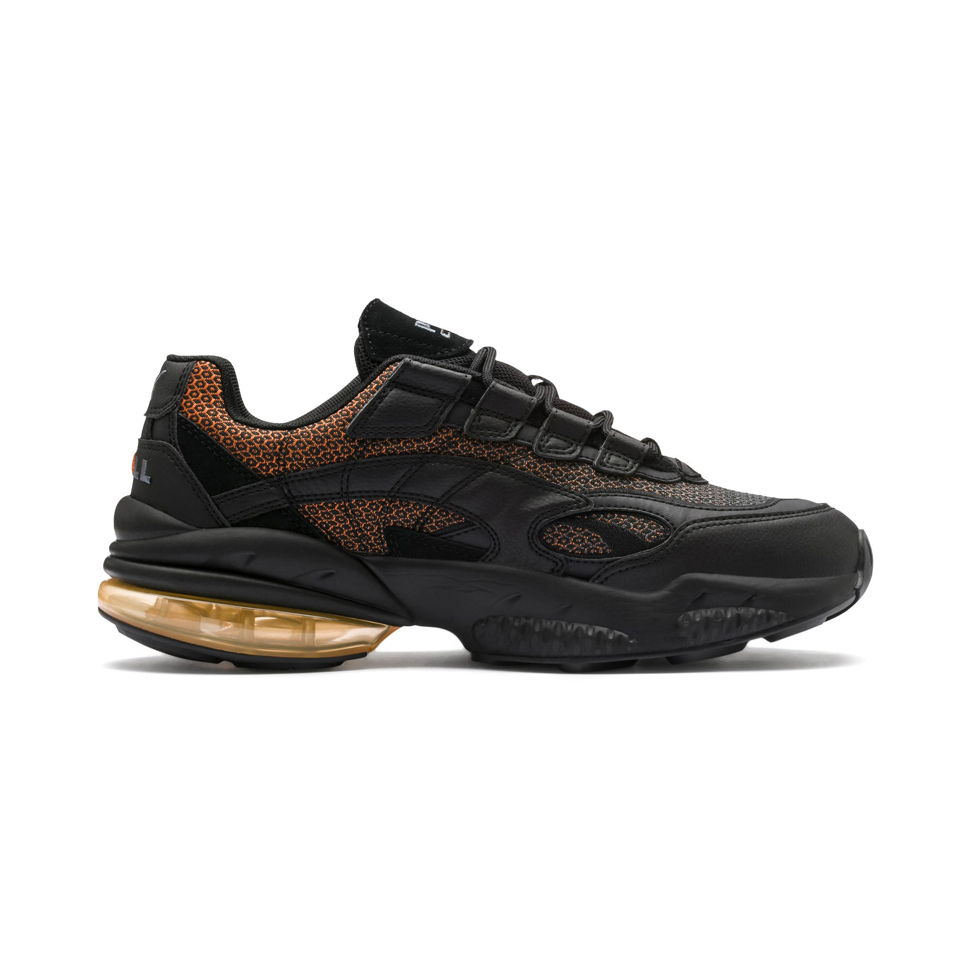 Thumbnail 6 of CELL Venom Lux Trainers, Puma Black-Jaffa Orange, medium