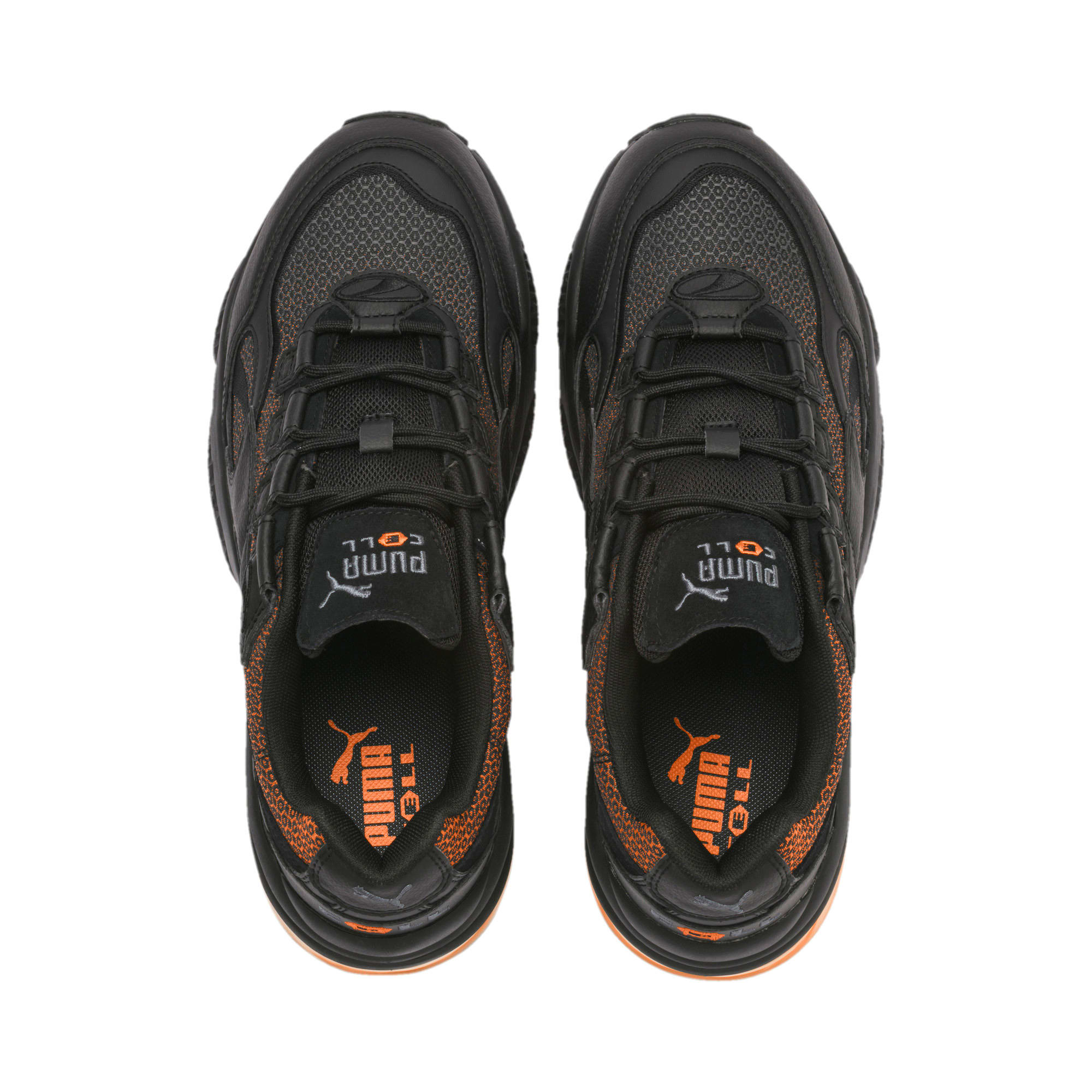 Thumbnail 7 of CELL Venom Lux Trainers, Puma Black-Jaffa Orange, medium