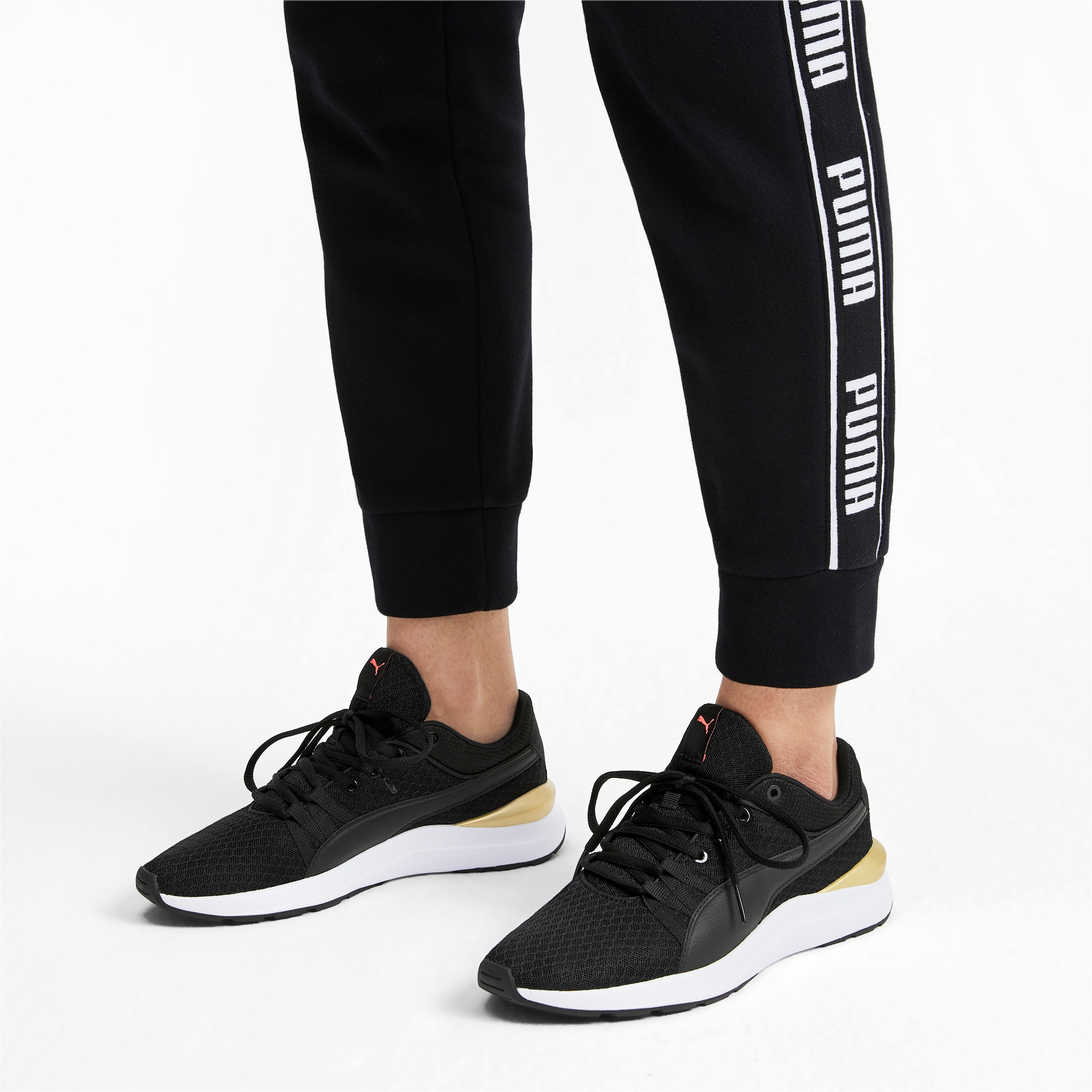 Thumbnail 2 of Adela Trainers, Puma Black-Puma Team Gold, medium