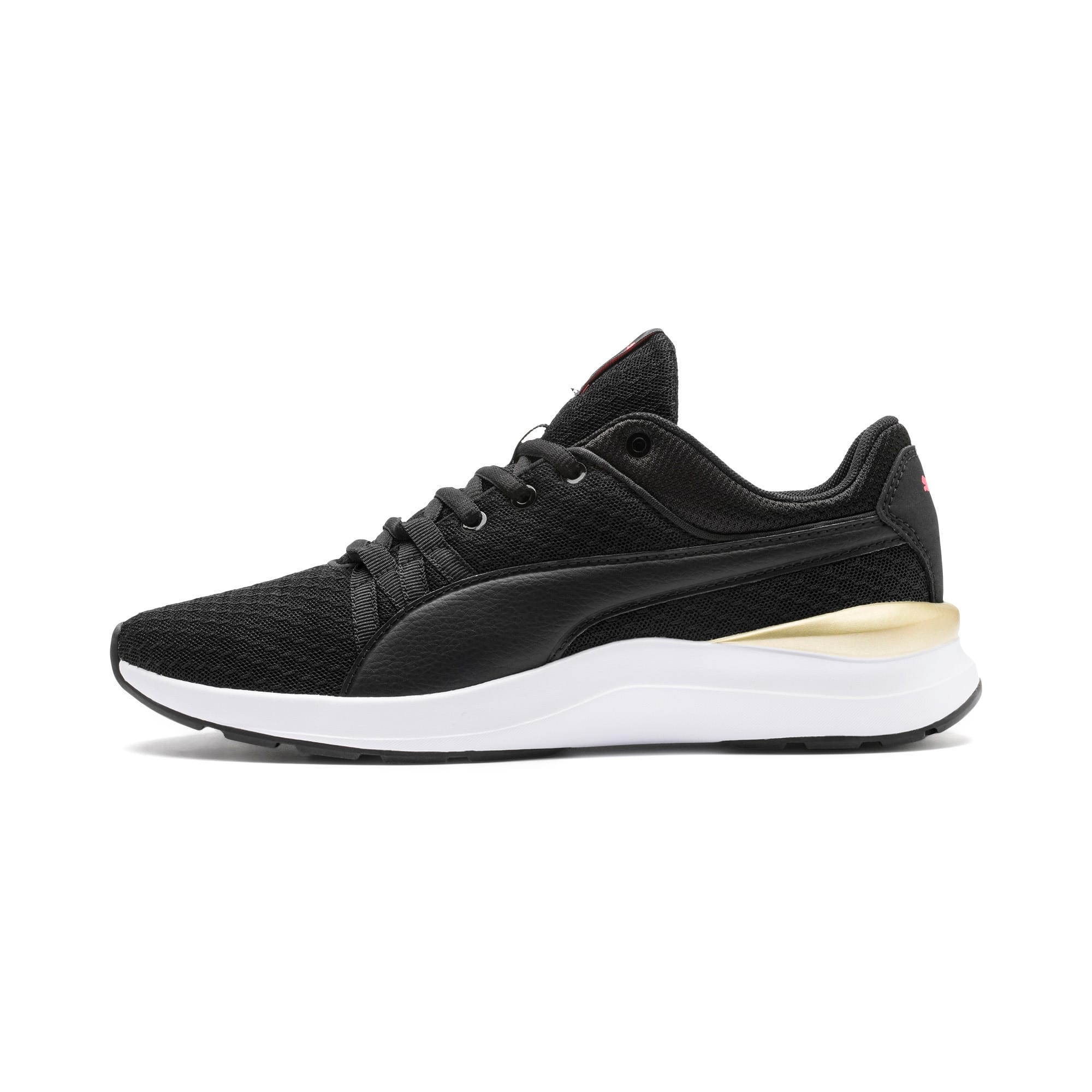 Thumbnail 1 of Adela Trainers, Puma Black-Puma Team Gold, medium
