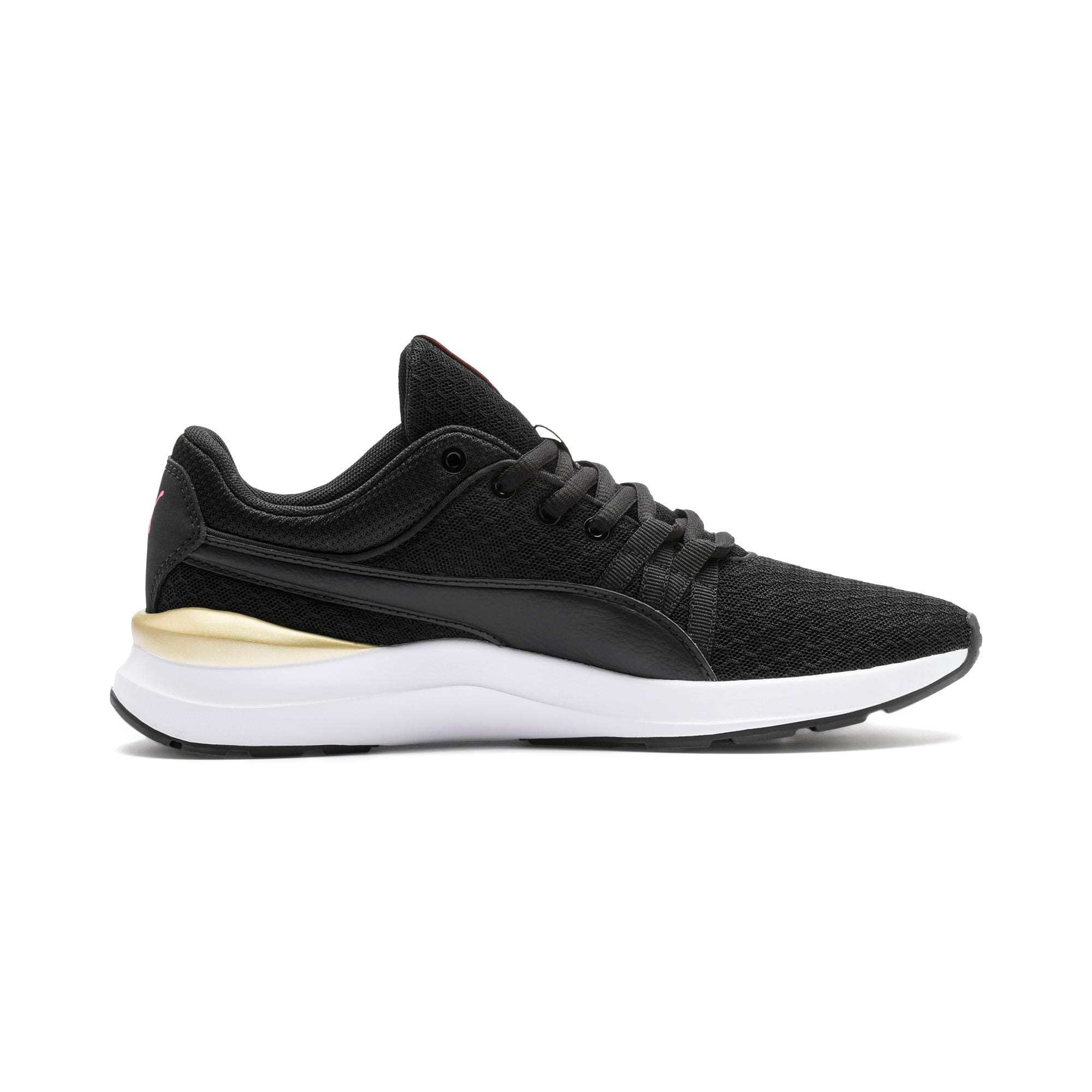 Thumbnail 6 of Adela Trainers, Puma Black-Puma Team Gold, medium