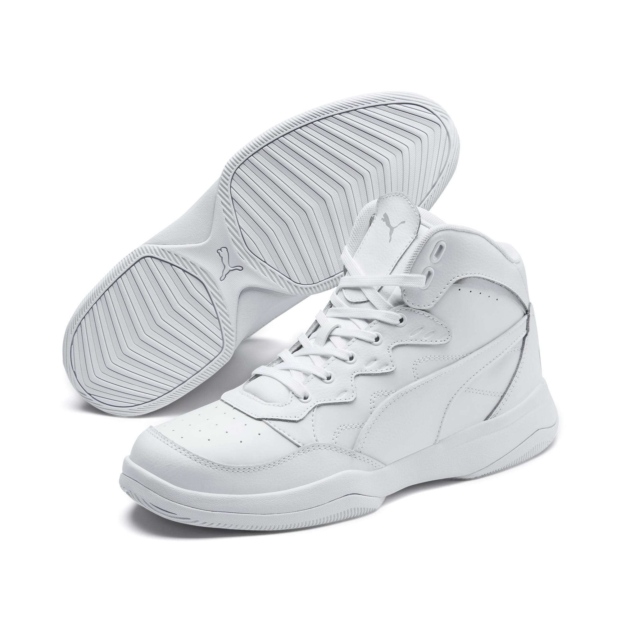 Thumbnail 3 of RB Play-Off Trainers, Puma White-High Rise, medium
