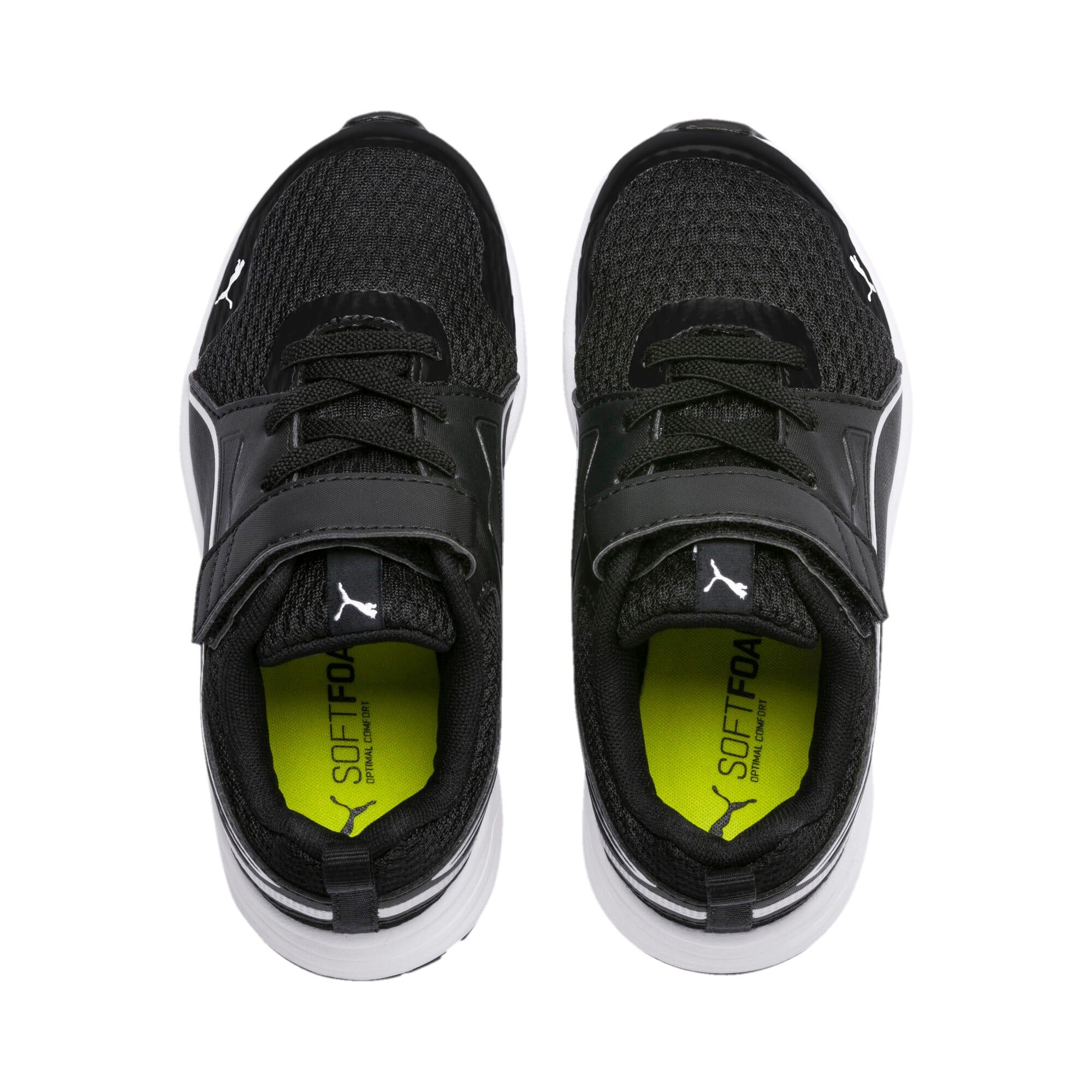 Thumbnail 6 of Pure Jogger V Kids' Trainers, Black-Silver-Wht-Nrgy Yellow, medium