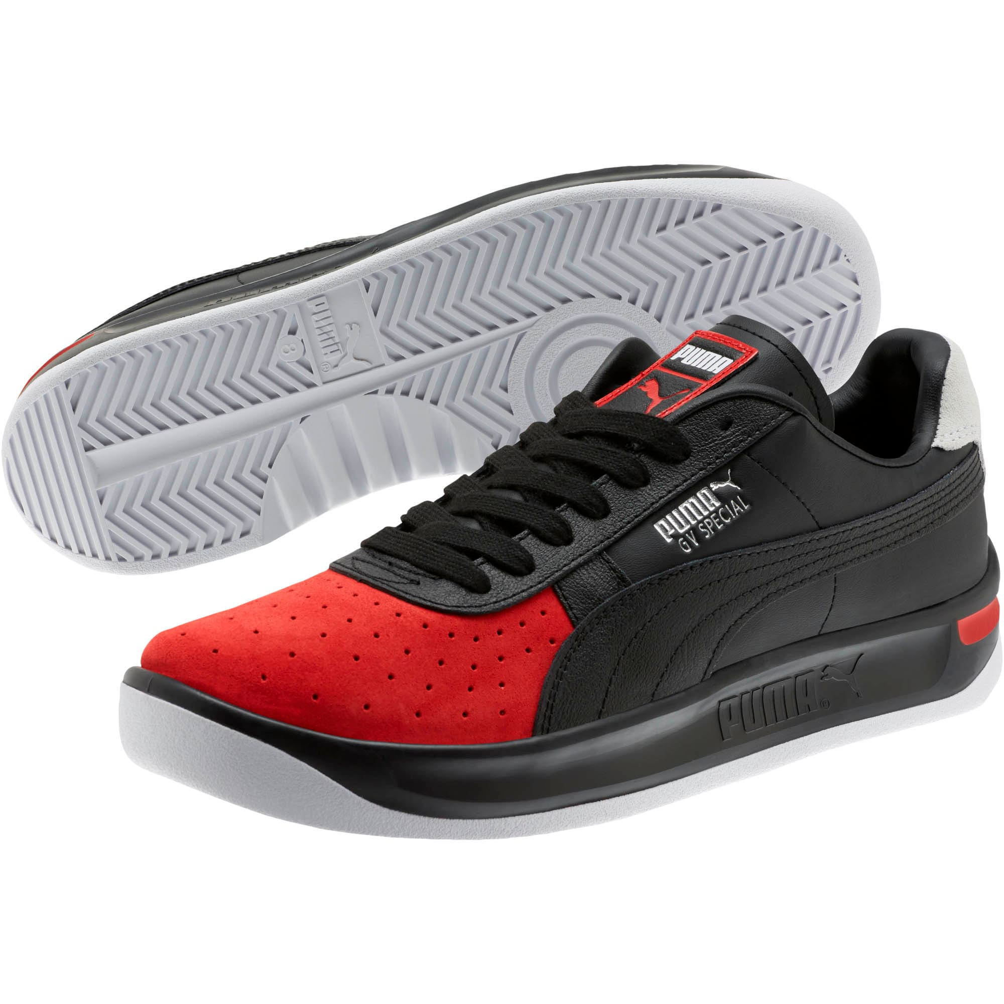Thumbnail 2 of GV Special Speedway Men's Sneakers, Puma Black-High Risk Red, medium