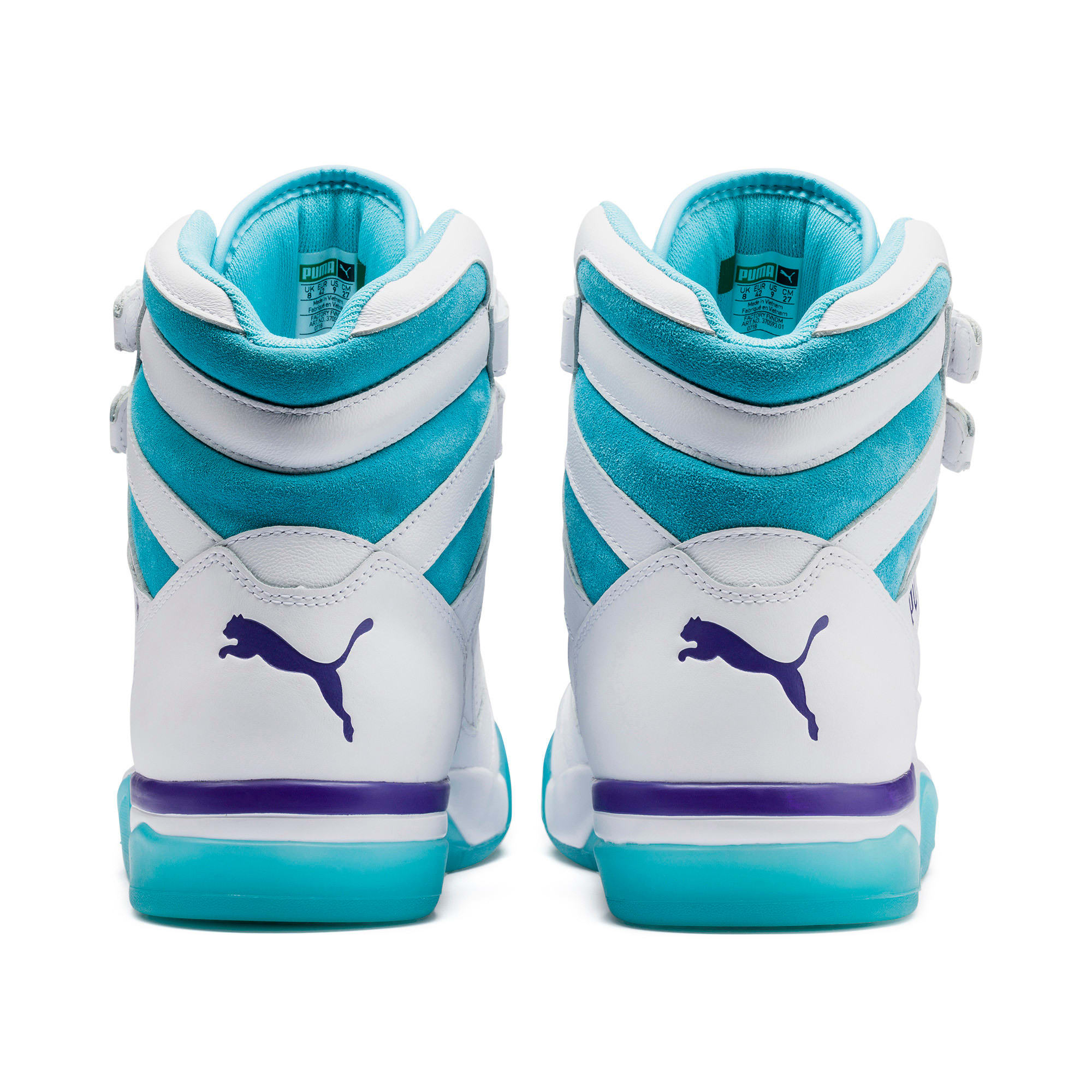Thumbnail 4 of Palace Guard Mid Queen City Sneakers, Puma White-Blue Atoll, medium